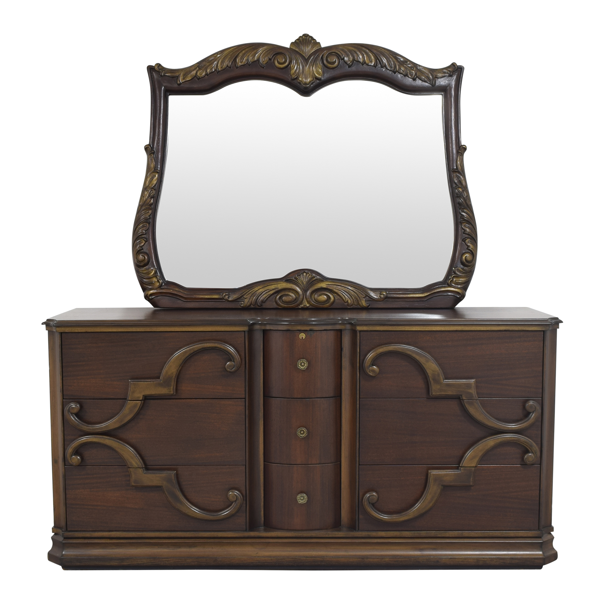 Triple Dresser with Mirror / Storage