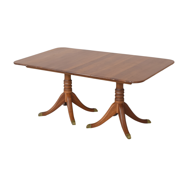 shop Stickley Furniture Double Pedestal Extendable Dining Table Stickley Furniture
