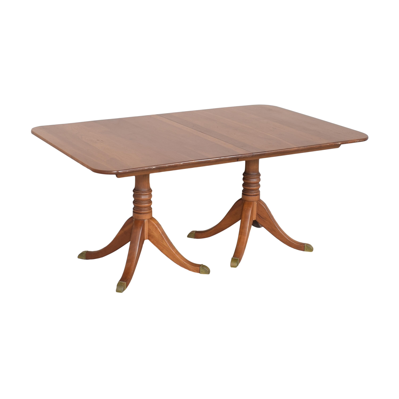 buy Stickley Furniture Double Pedestal Extendable Dining Table Stickley Furniture Tables