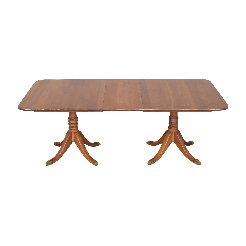 shop Stickley Furniture Stickley Furniture Double Pedestal Extendable Dining Table online