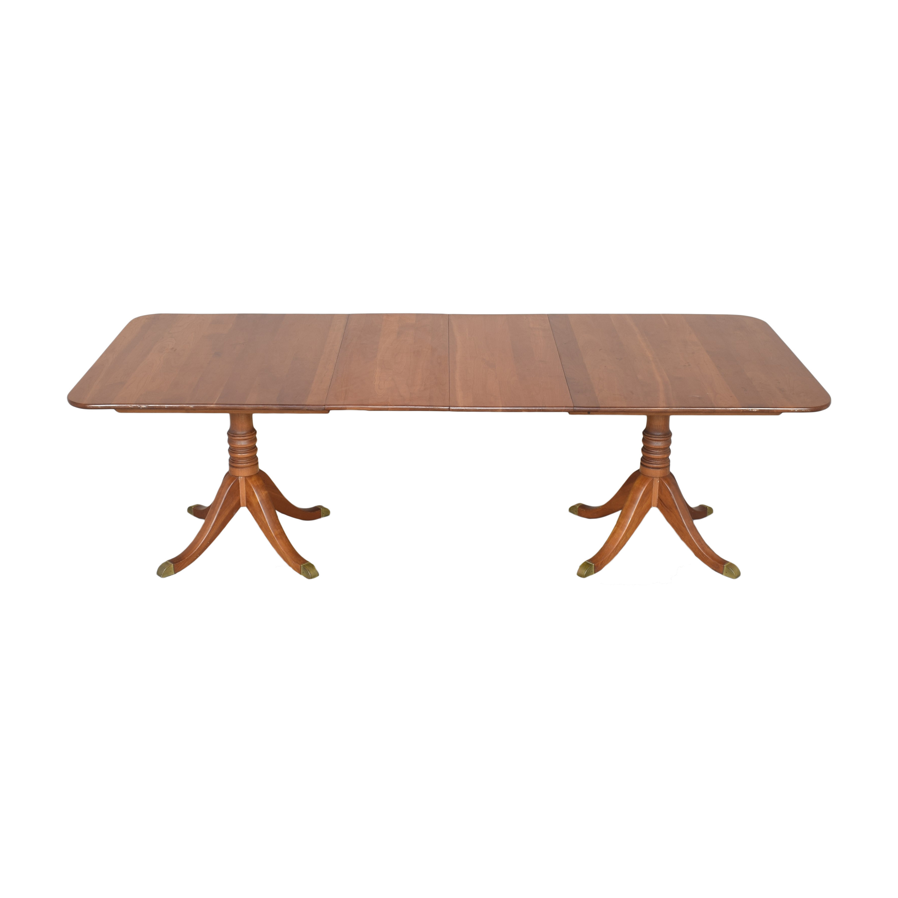 buy Stickley Furniture Stickley Furniture Double Pedestal Extendable Dining Table online