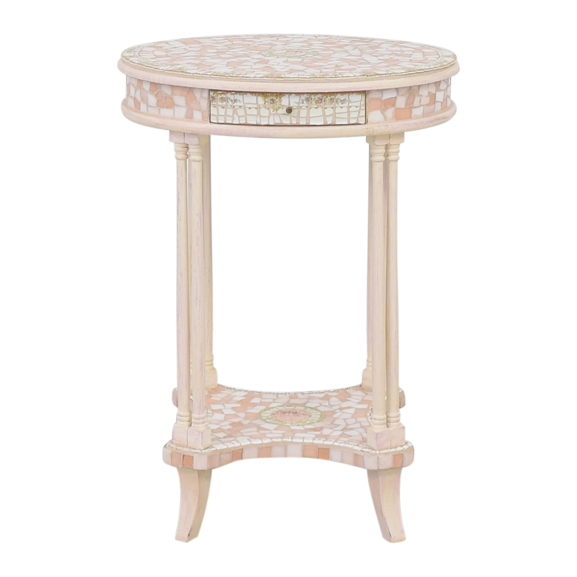 Mosaic Round End Table / Tables
