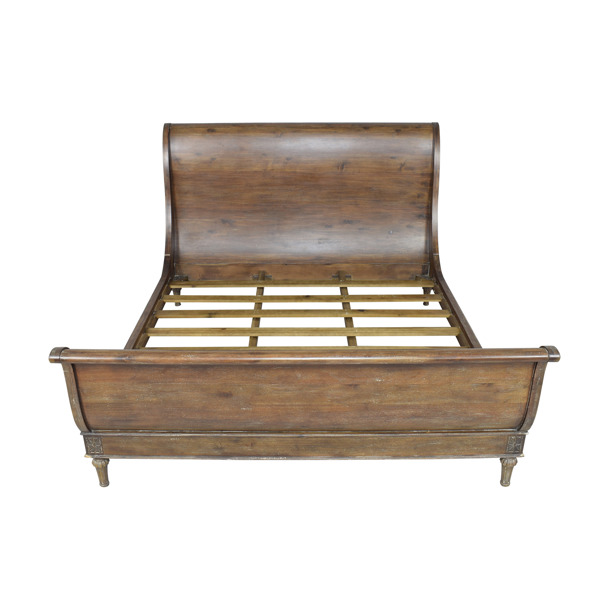 Restoration Hardware Restoration Hardware Empire Rosette King Sleigh Bed with Footboard used