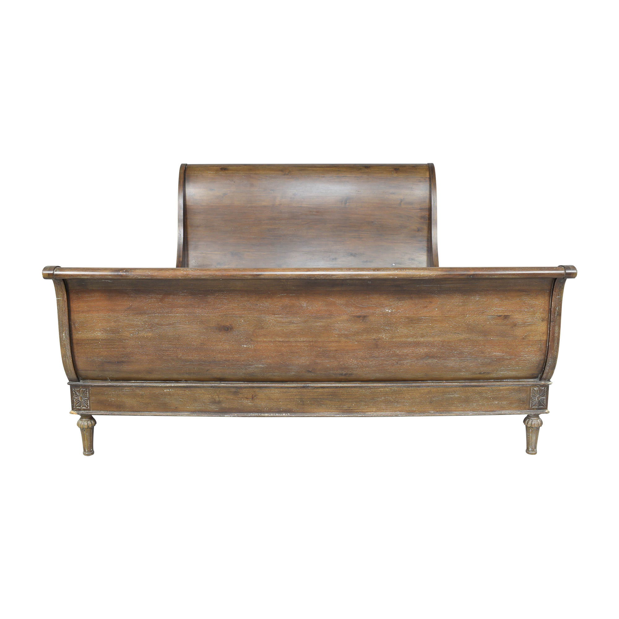 buy Restoration Hardware Empire Rosette King Sleigh Bed with Footboard Restoration Hardware Bed Frames