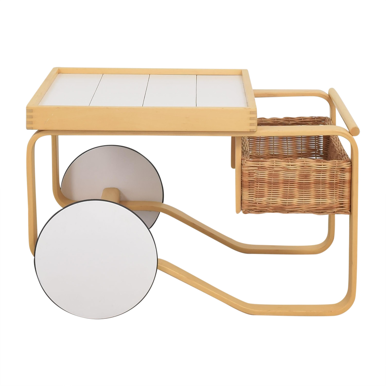 Artek Artek Tea Cart Trolley 900 by Alvar Aalto  white and light brown