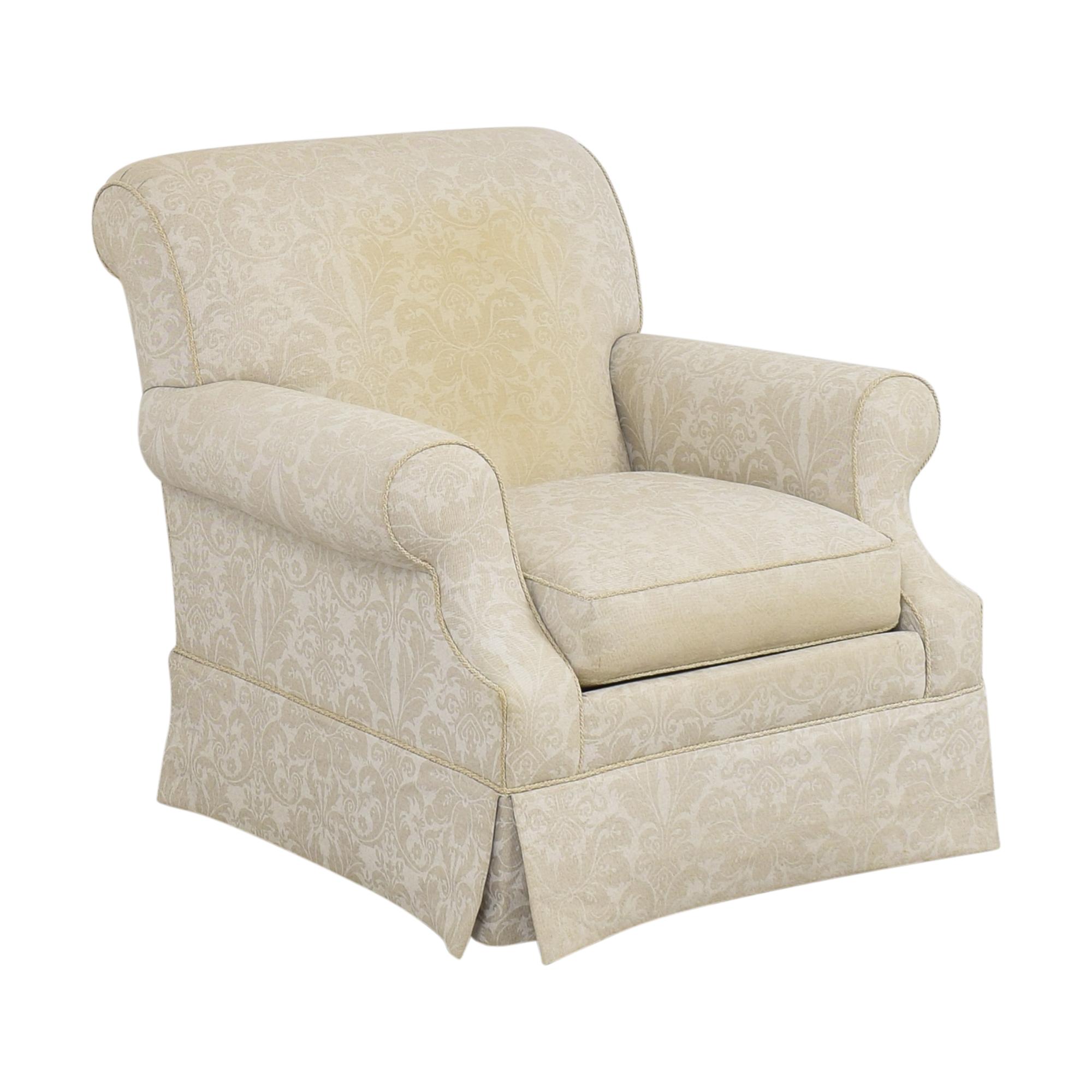 Ethan Allen Damask Accent Chair sale