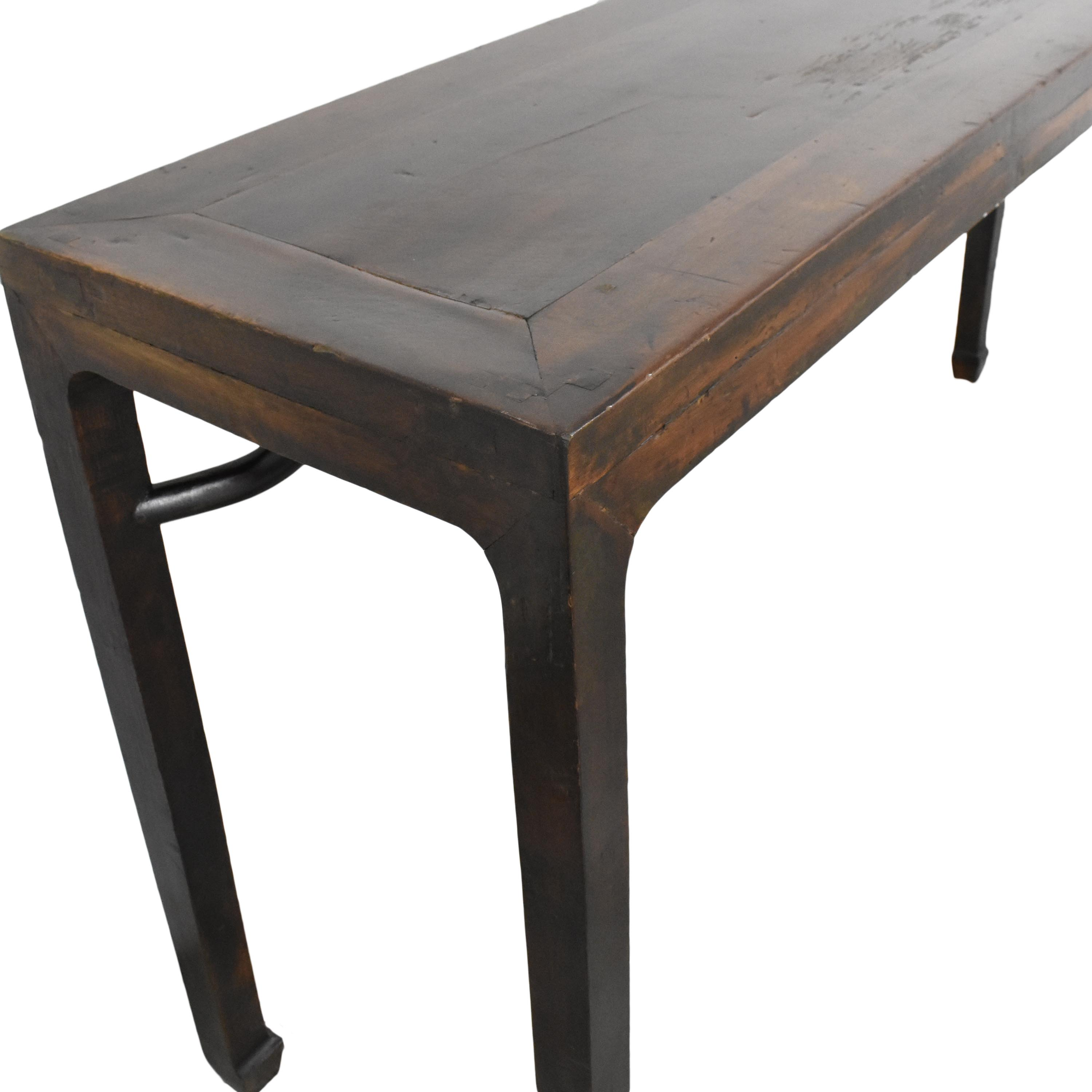 Asian-Style Rustic Console Table ma
