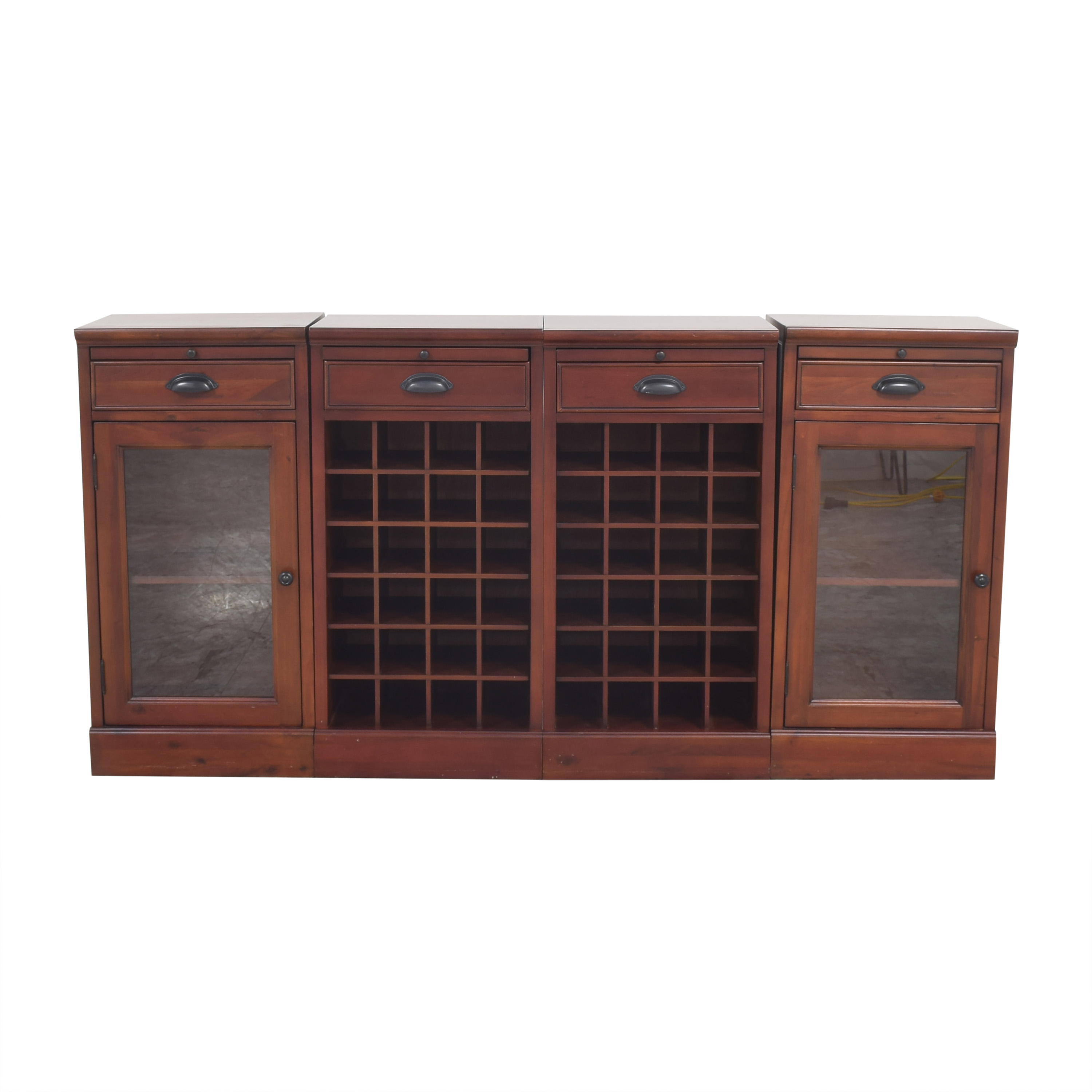 Pottery Barn Pottery Barn Modular Buffet with Double Wine Grid discount