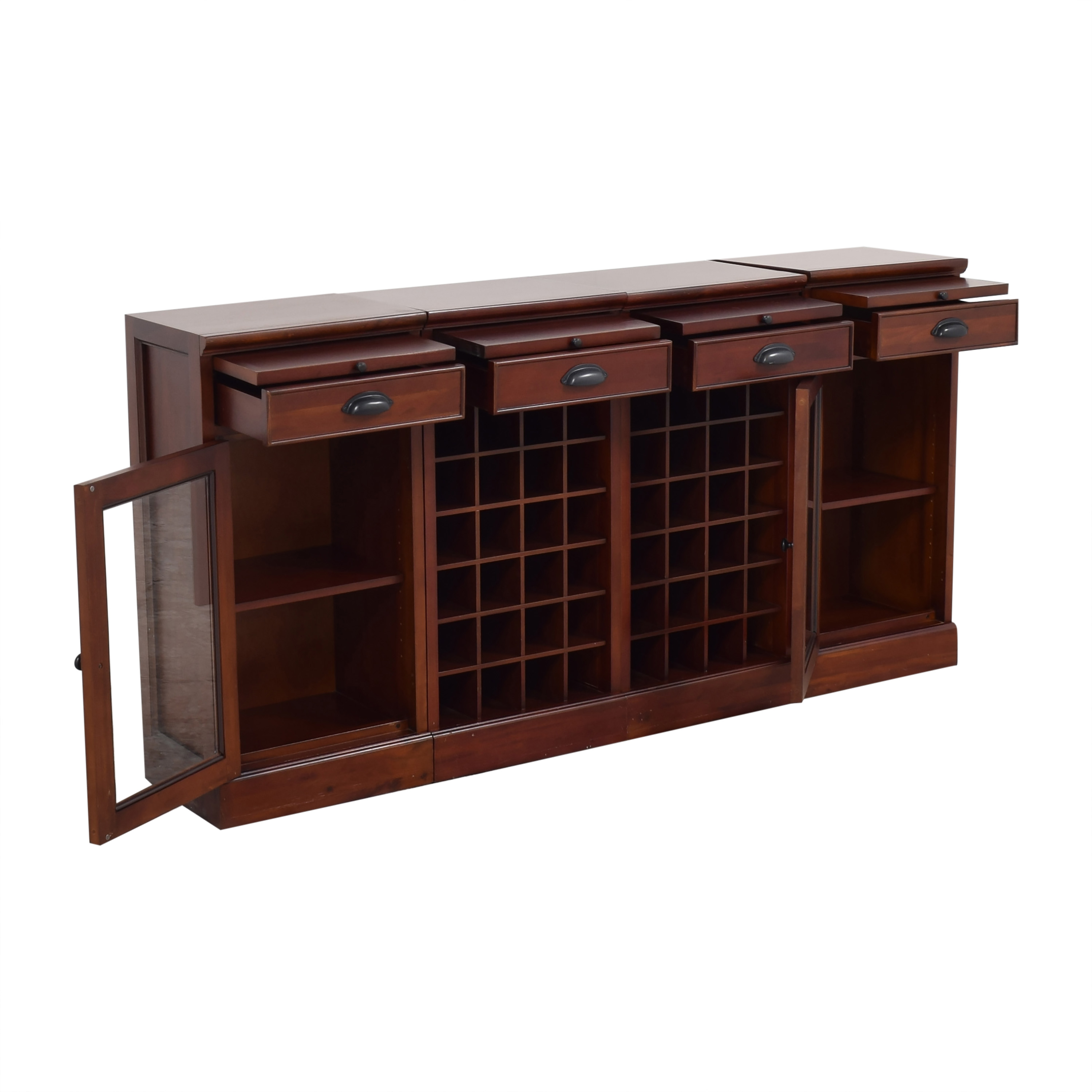 Pottery Barn Pottery Barn Modular Buffet with Double Wine Grid on sale