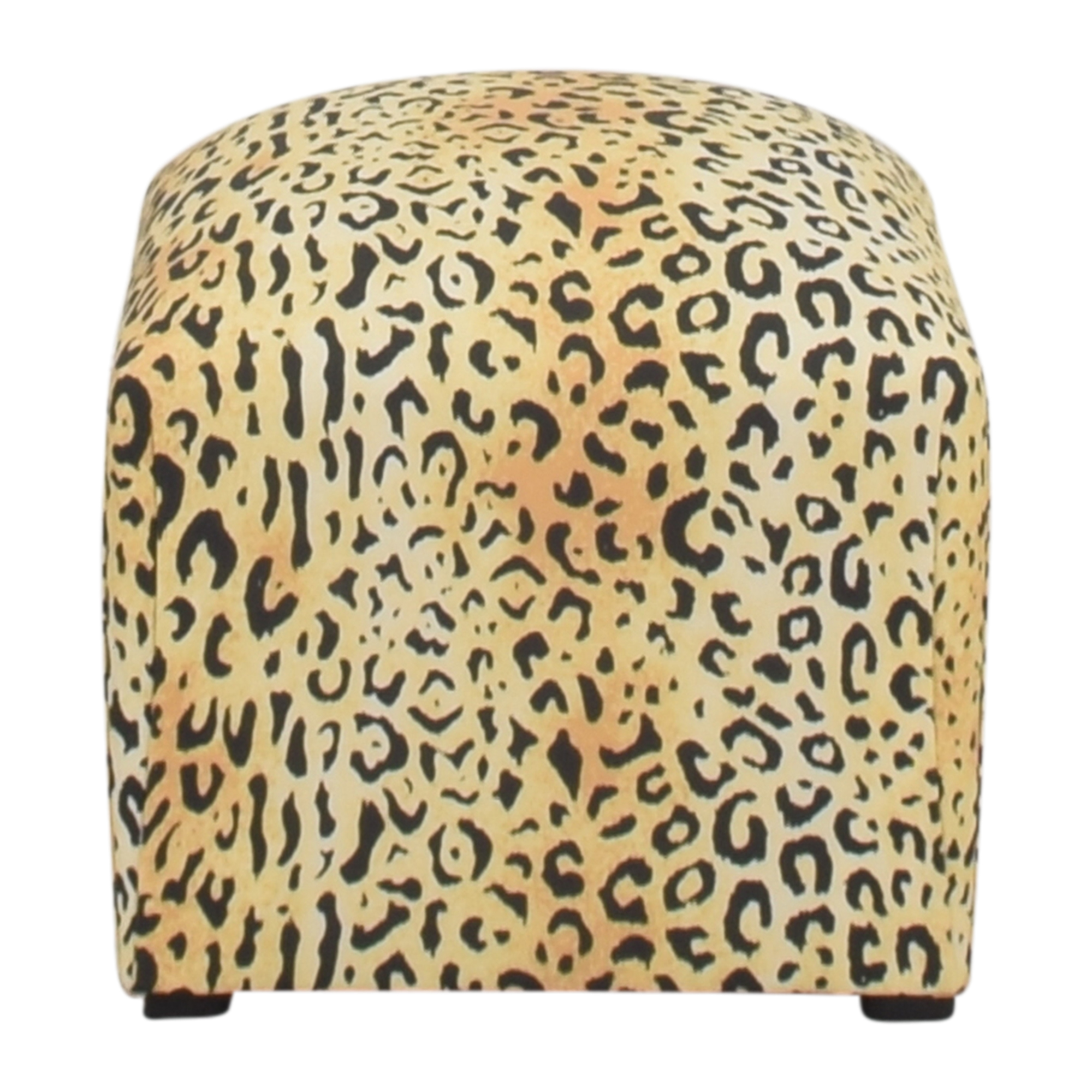 The Inside The Inside Leopard Deco Ottoman for sale