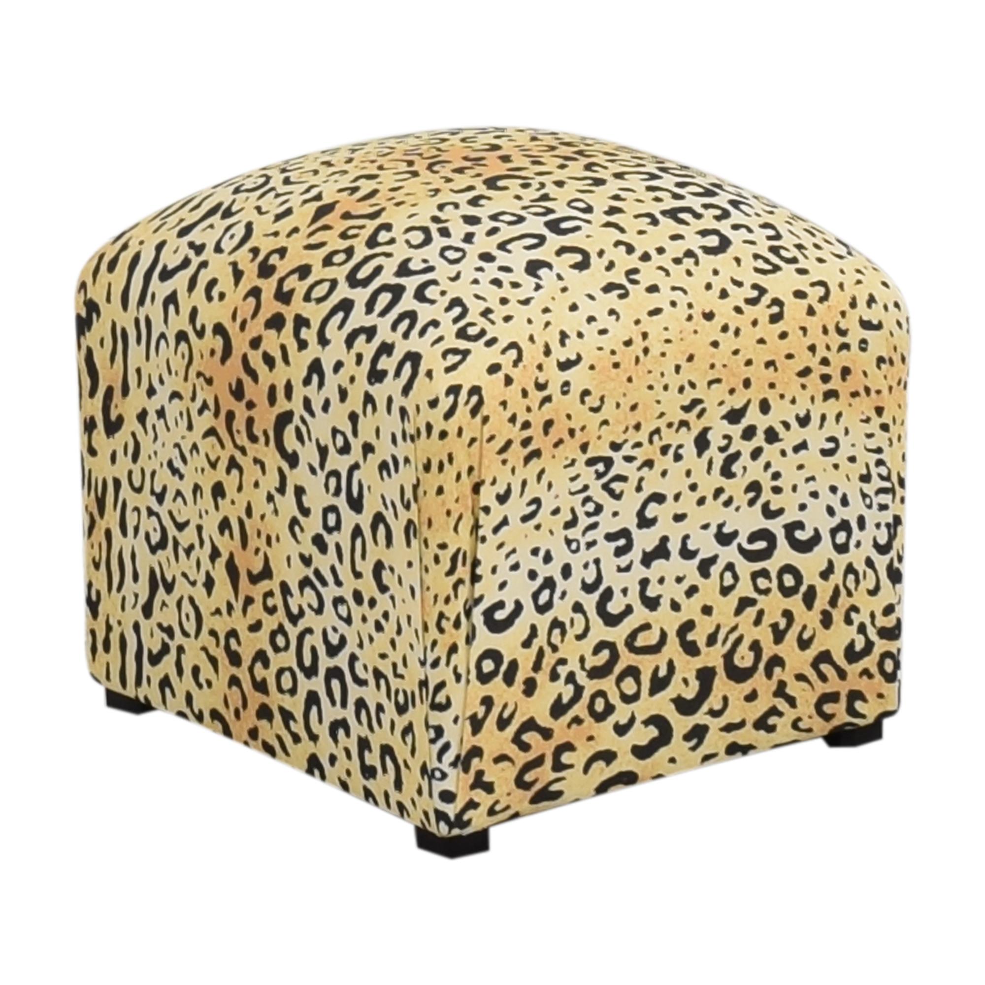 buy The Inside Leopard Deco Ottoman The Inside