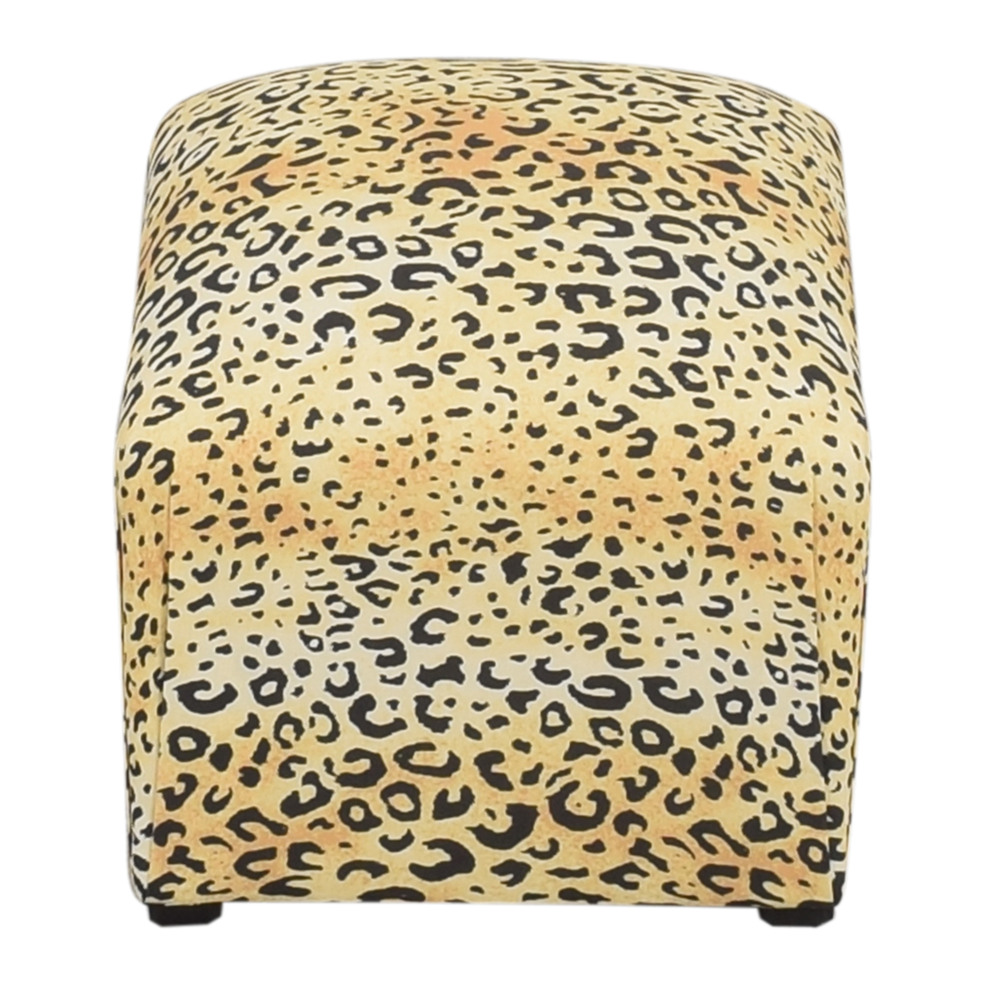 shop The Inside Leopard Deco Ottoman The Inside