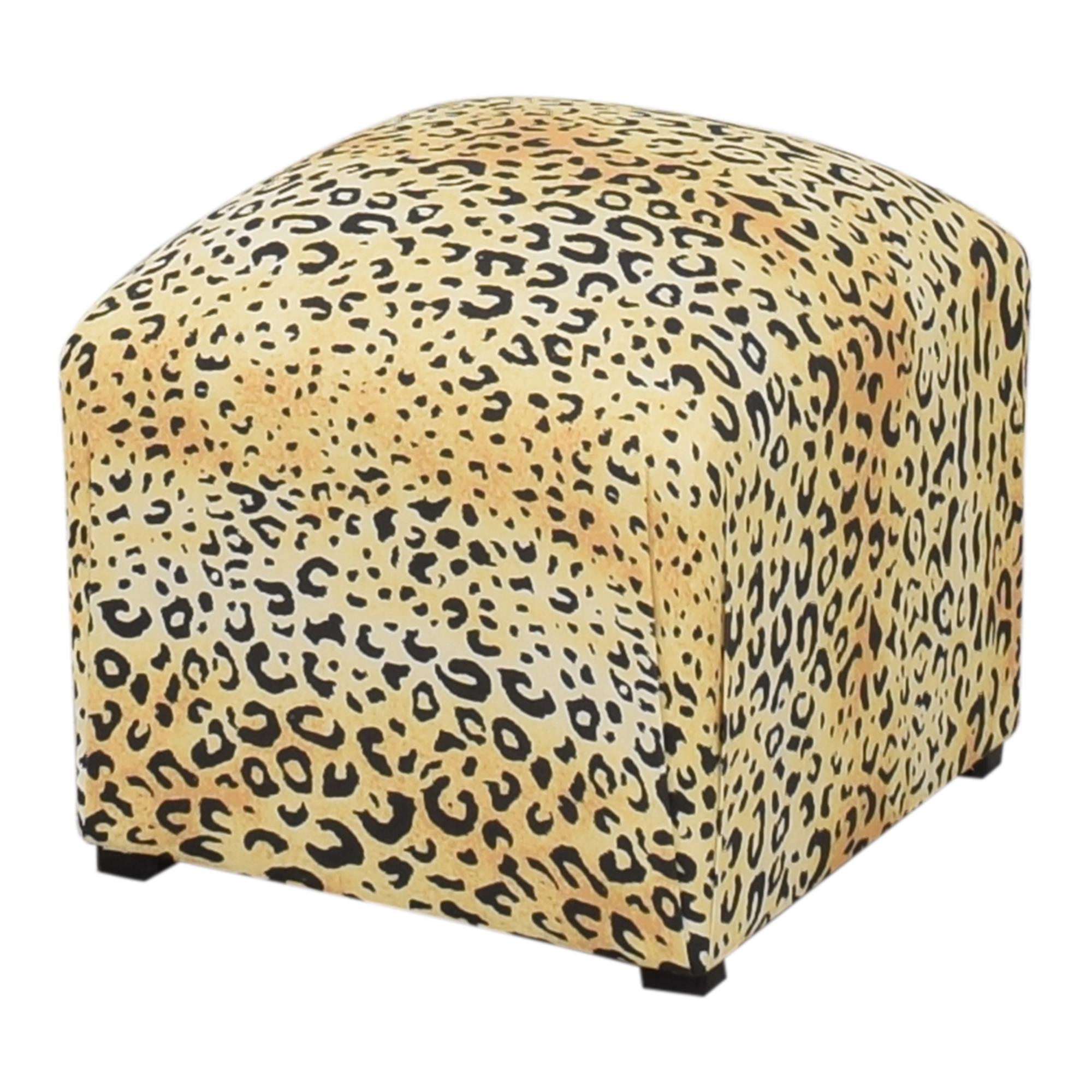 The Inside Leopard Deco Ottoman The Inside