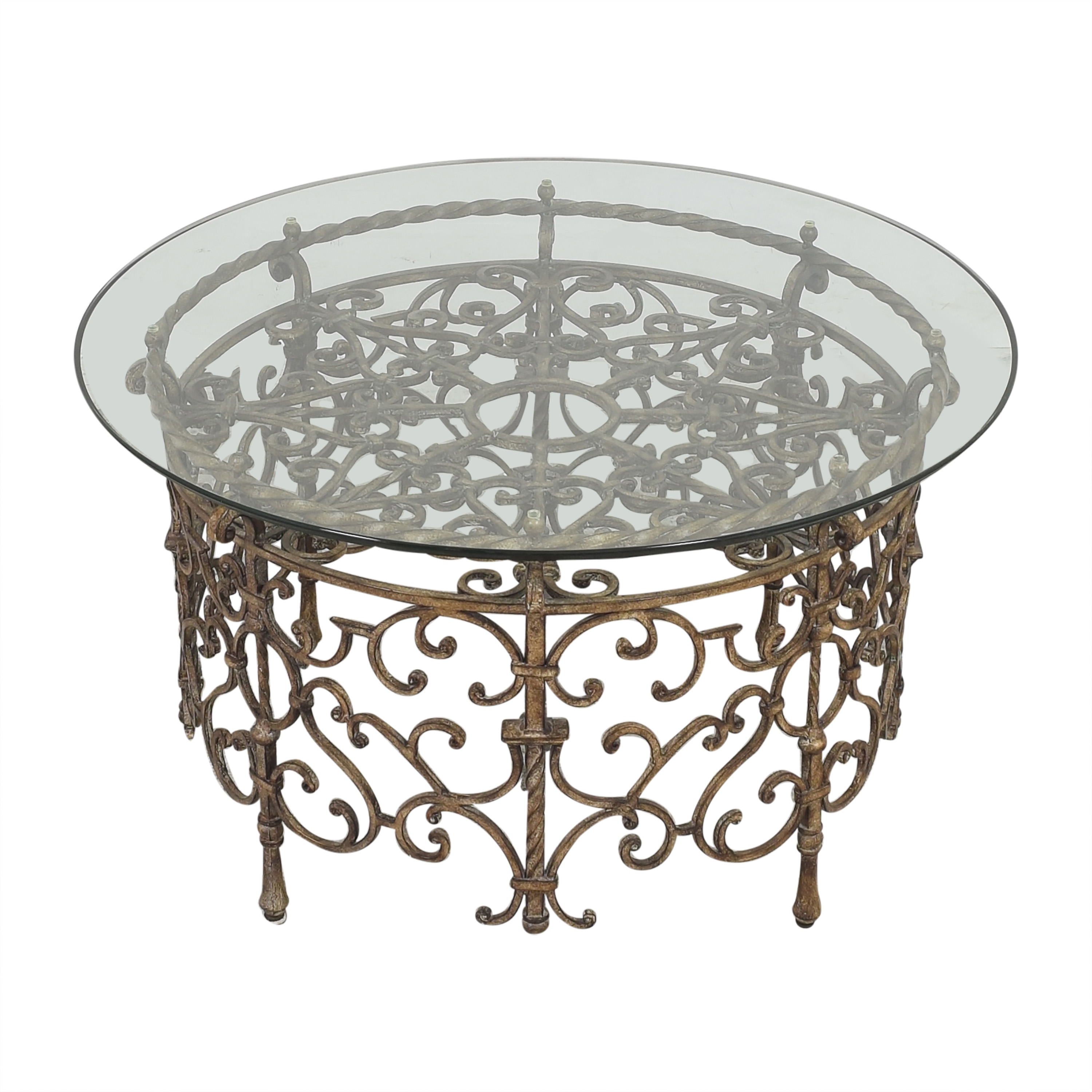 Horchow Horchow Round Transparent Coffee Table second hand