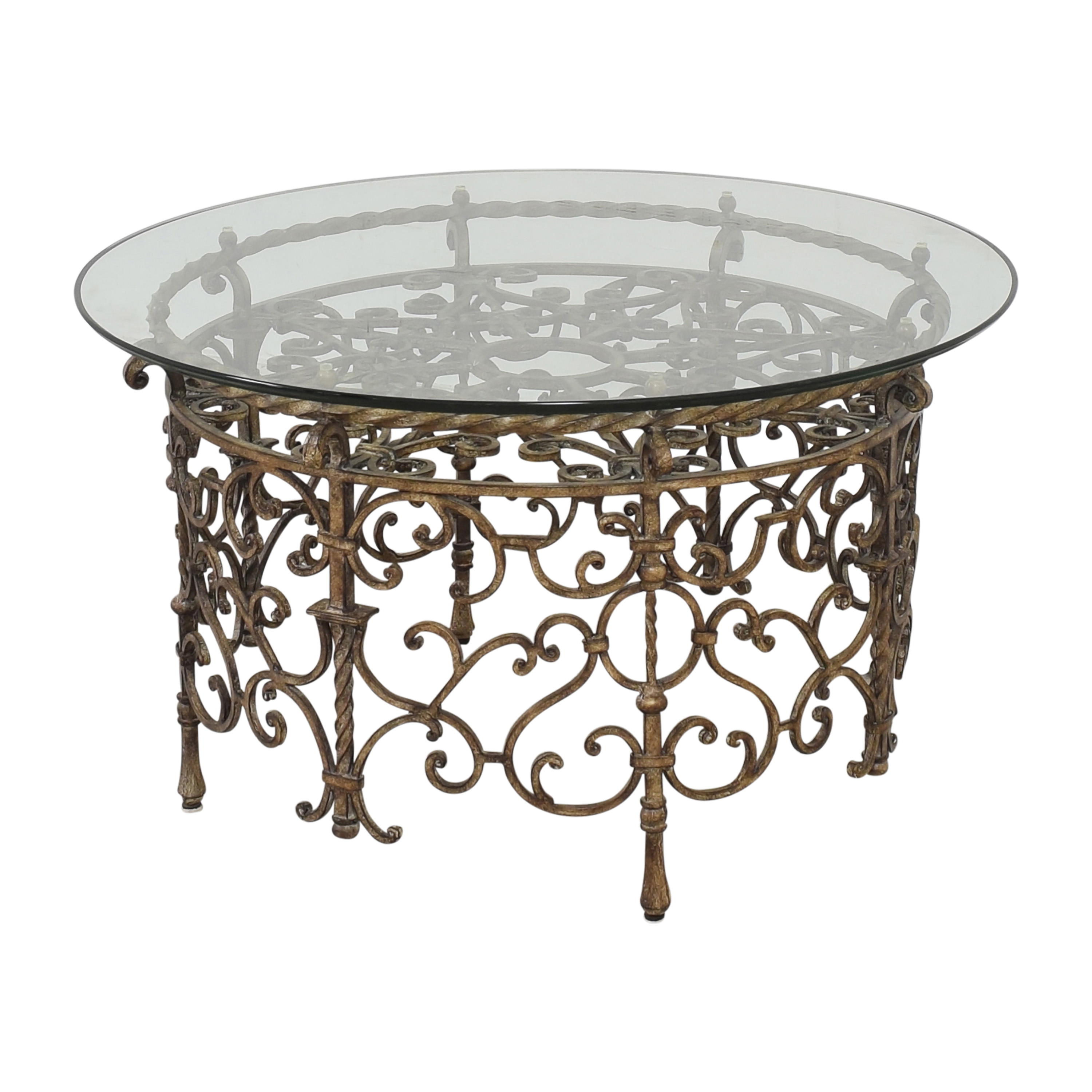Horchow Round Transparent Coffee Table / Tables