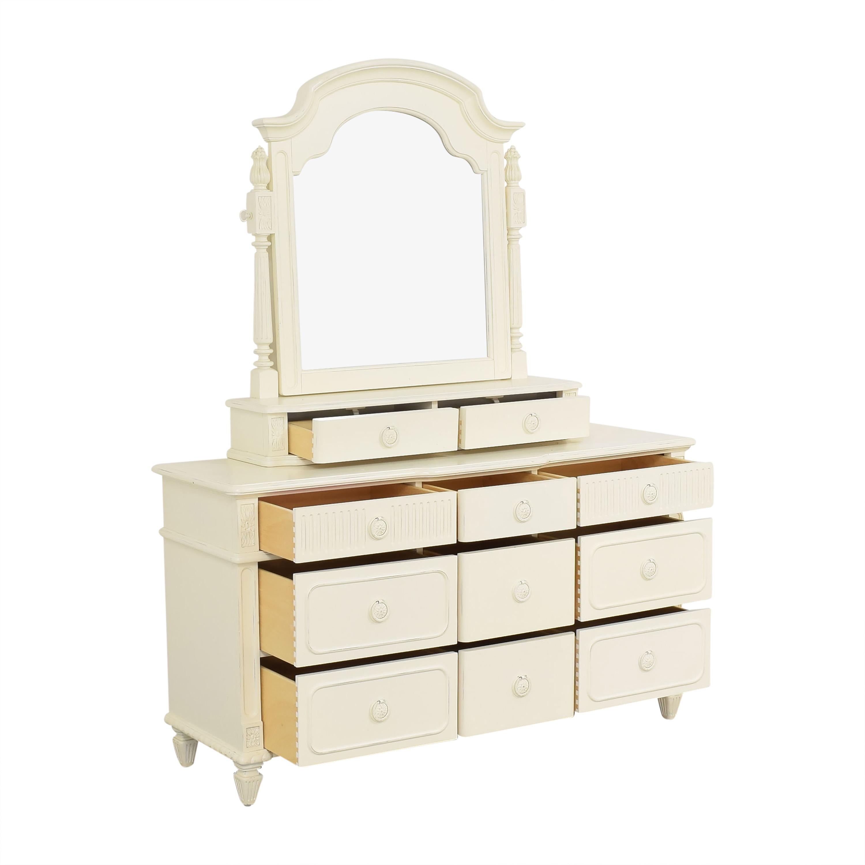 Thomasville Thomasville Eleven Drawer Triple Dresser with Mirror for sale