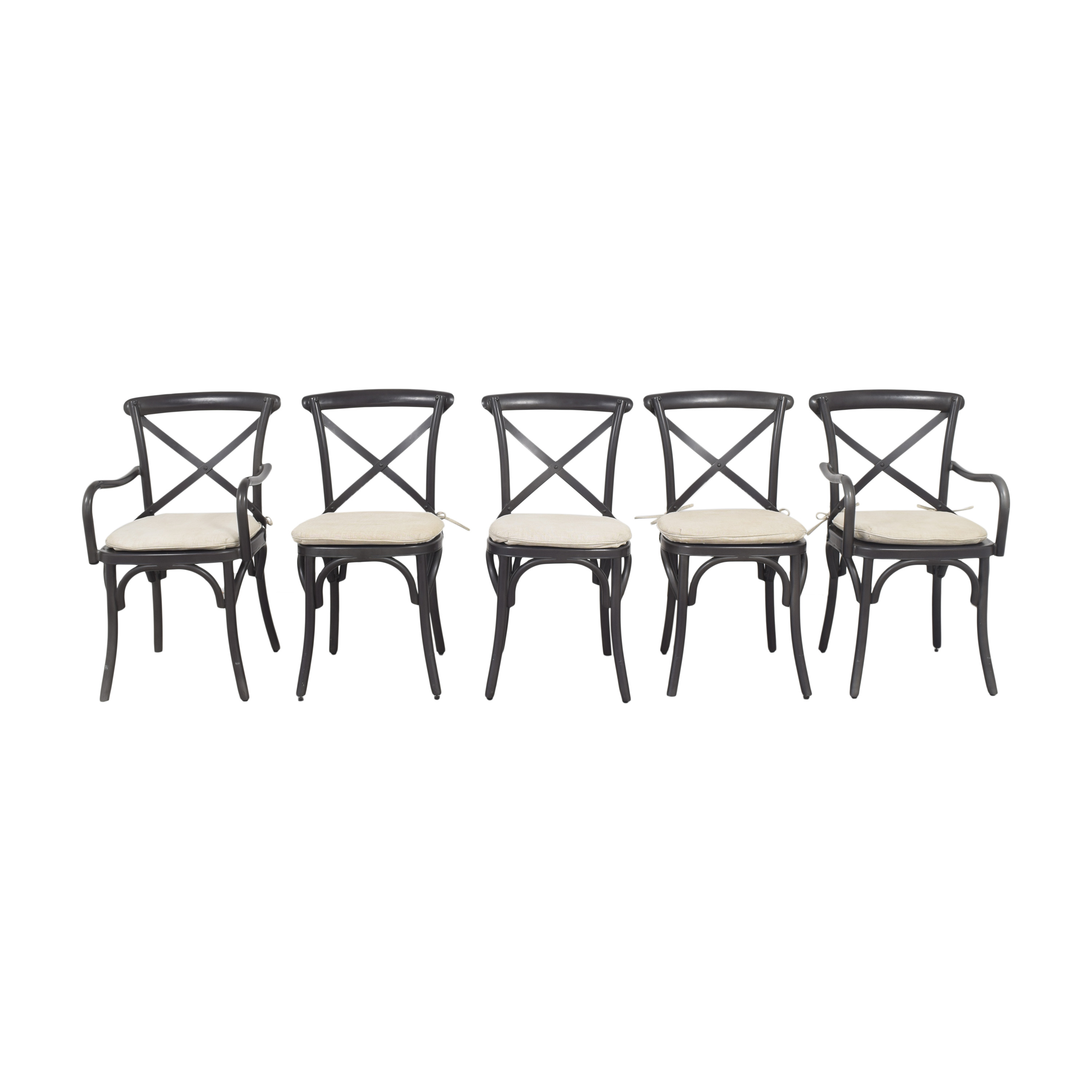 Restoration Hardware Restoration Hardware Madeleine Chairs with Cushions