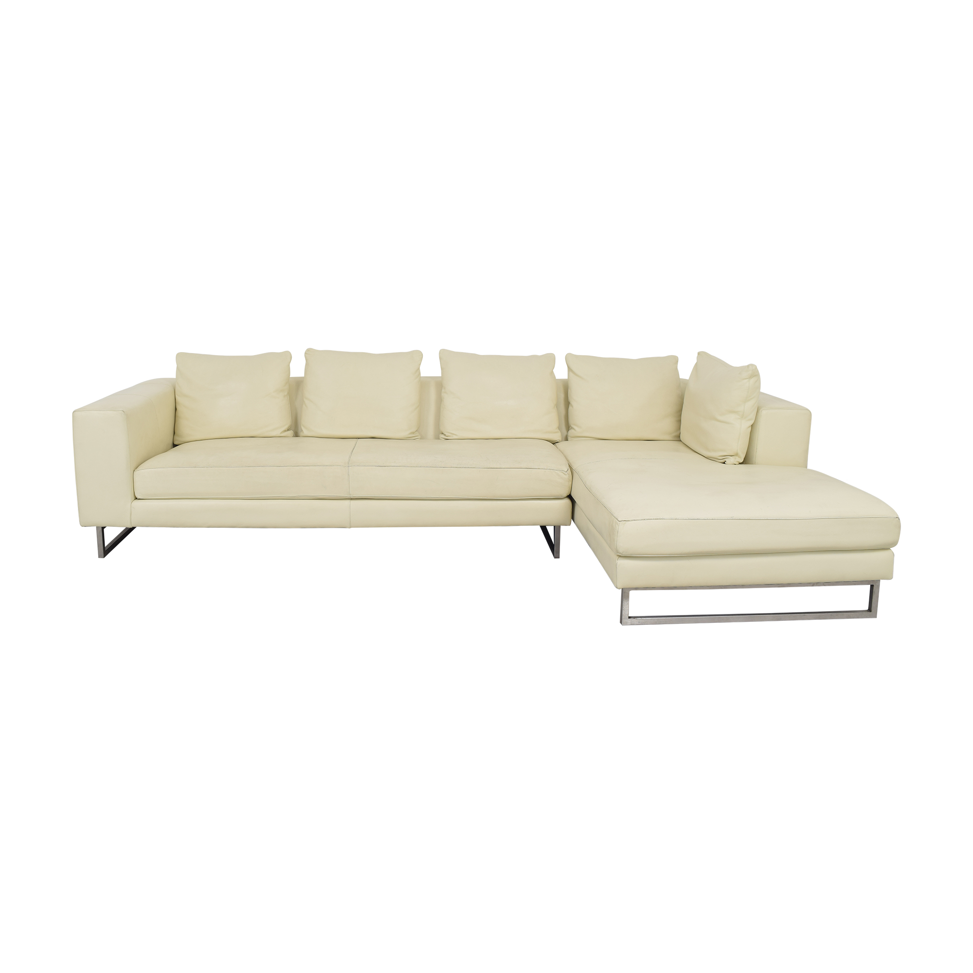 Maurice Villency Maurice Villency Freestyle Chaise Sectional Sofa cream