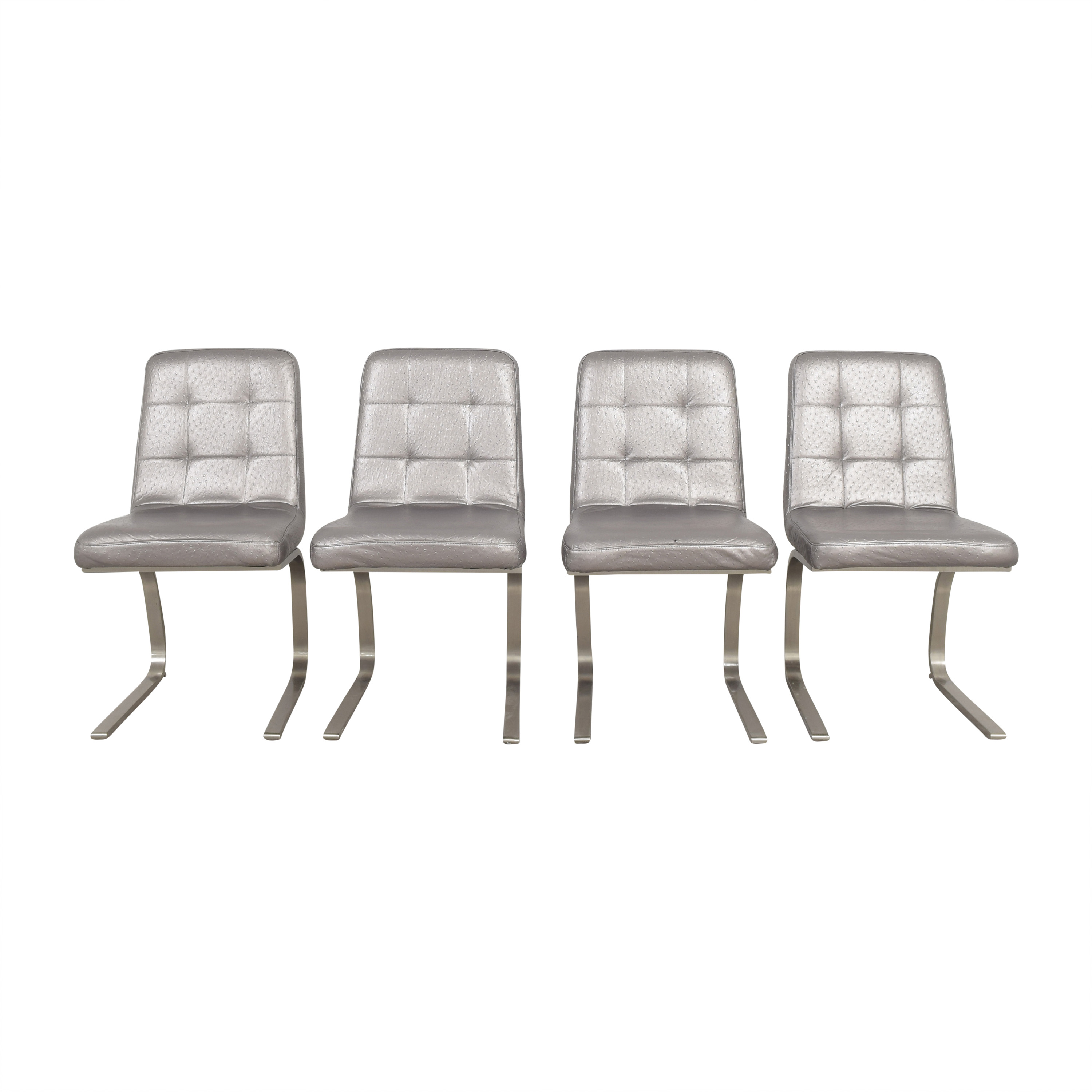 Decor NYC Decor NYC Tufted Embossed Dining Chairs dimensions
