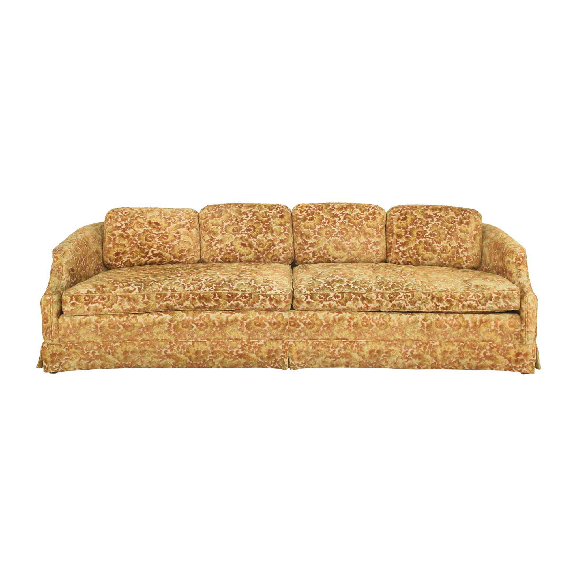 buy Sherrill Furniture Floral Skirted Sofa Sherrill Furniture