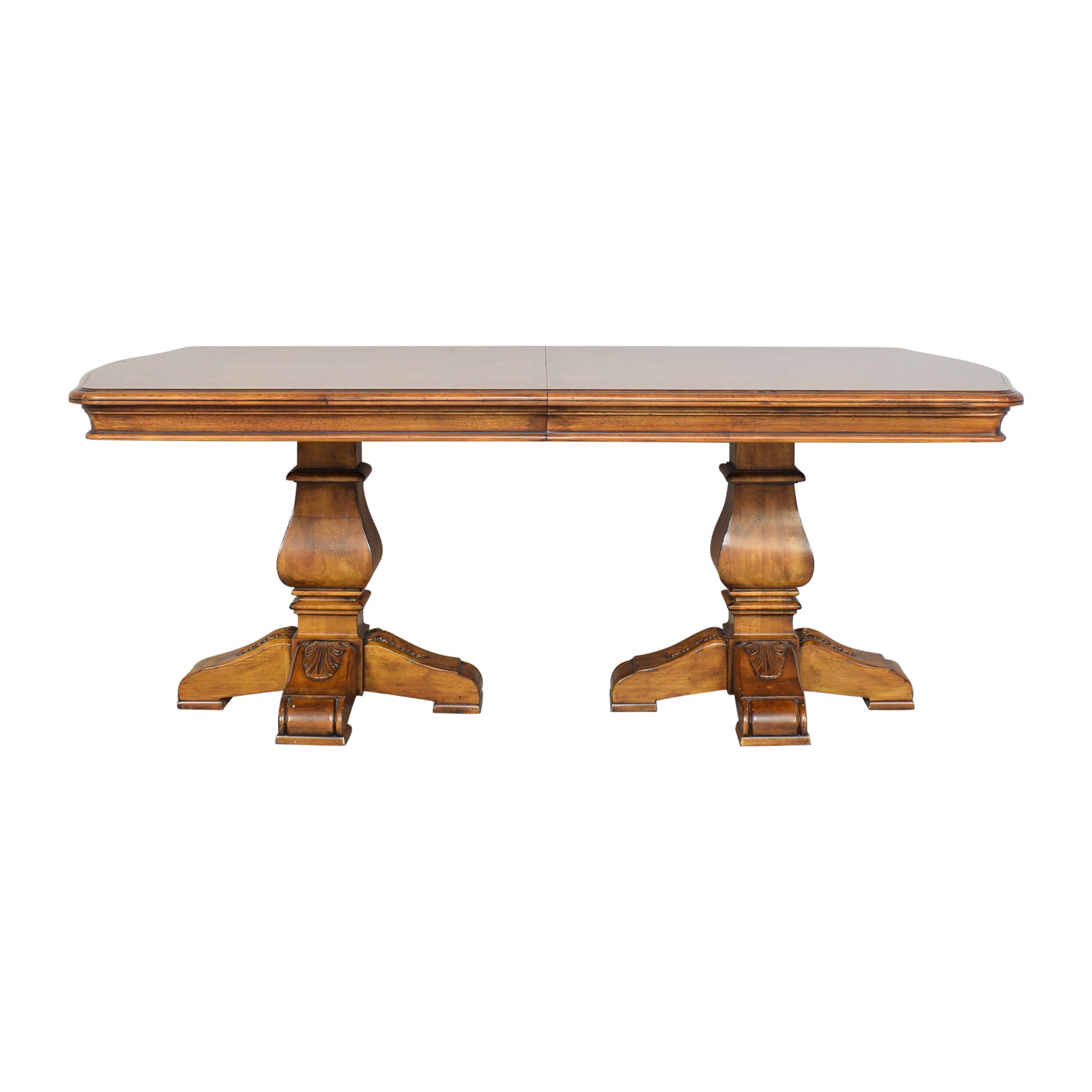 shop Ethan Allen Tuscany Collection Extendable Dining Table Ethan Allen Dinner Tables