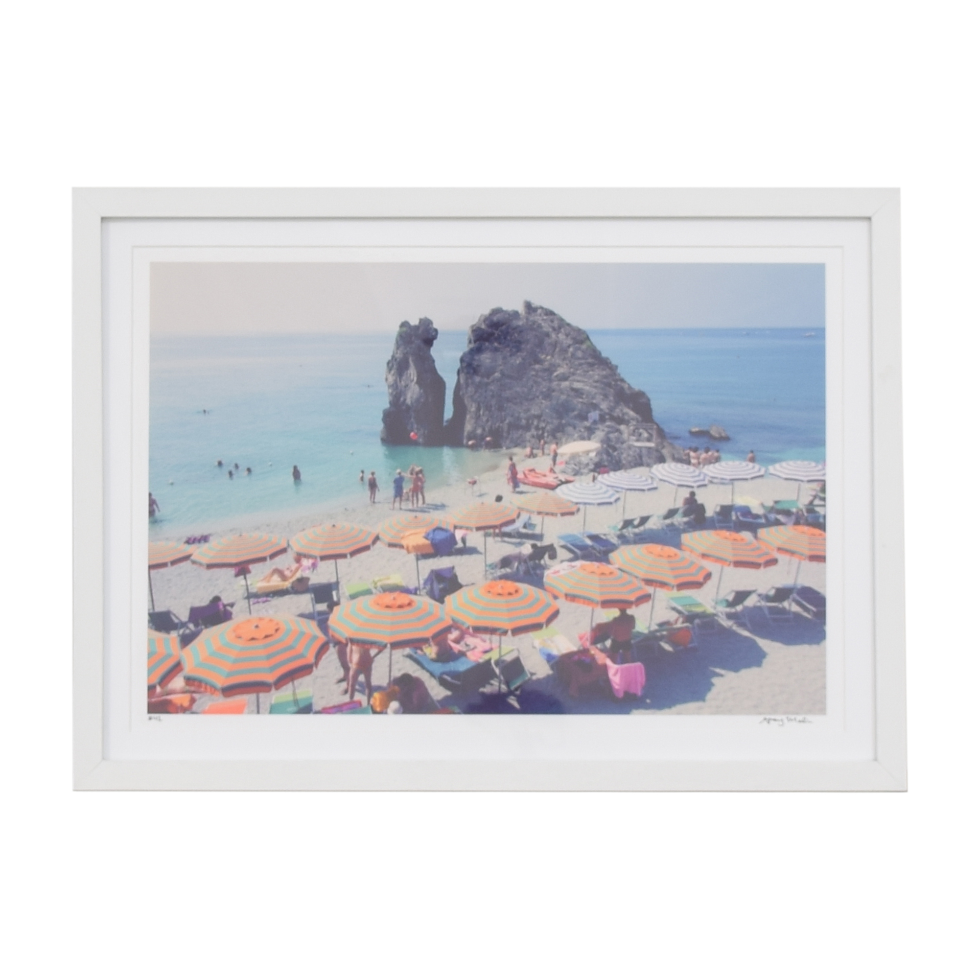 Gray Malin Framed Beach Umbrella Print