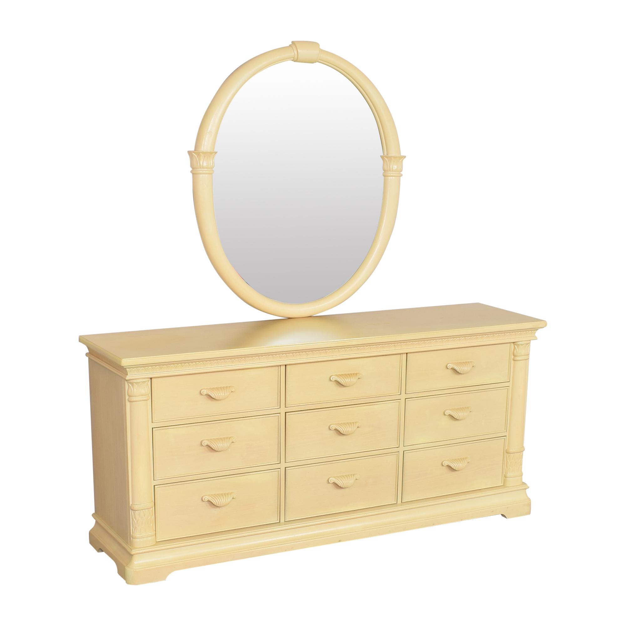 Bernhardt Nine Drawer Dresser with Mirror Bernhardt