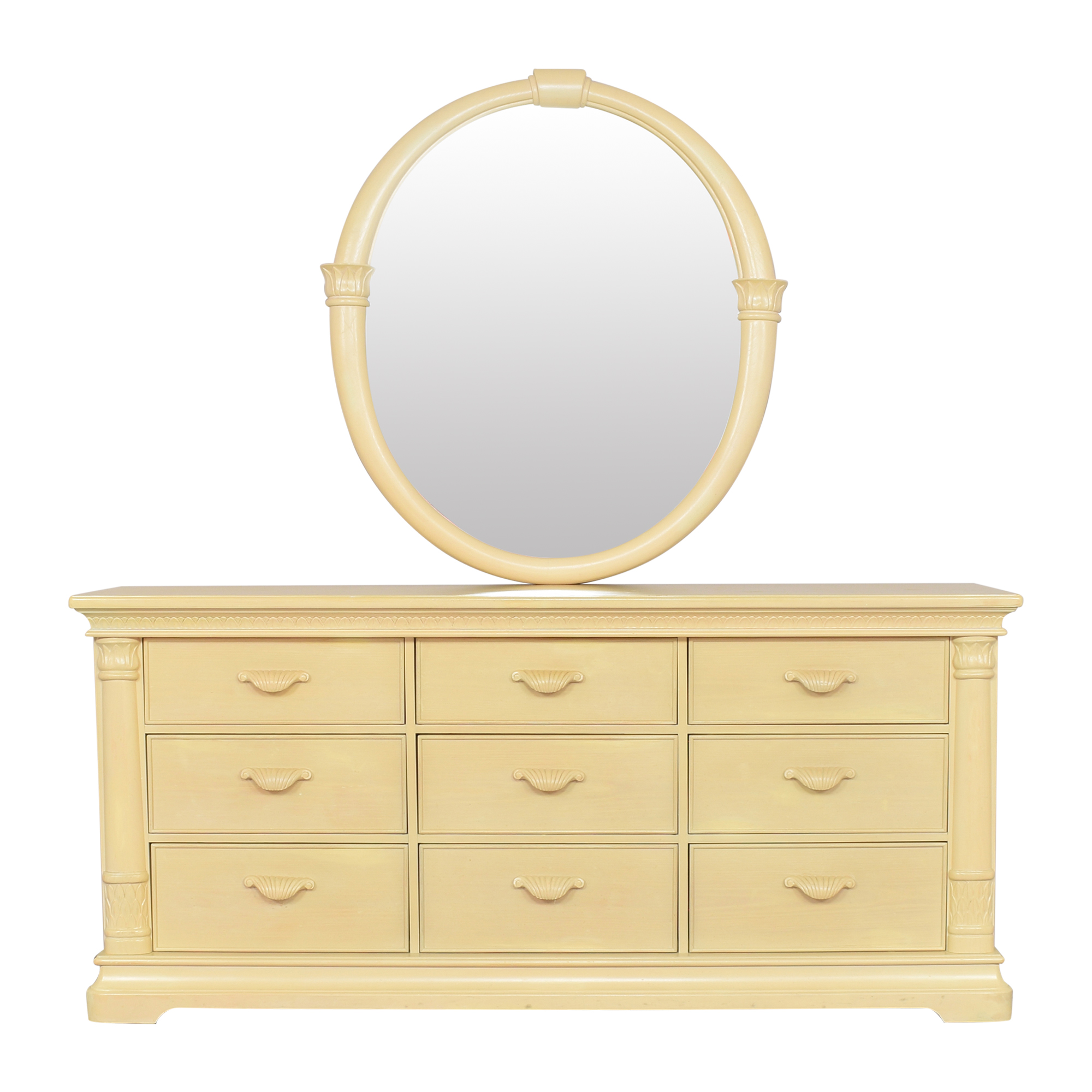 Bernhardt Nine Drawer Dresser with Mirror / Storage
