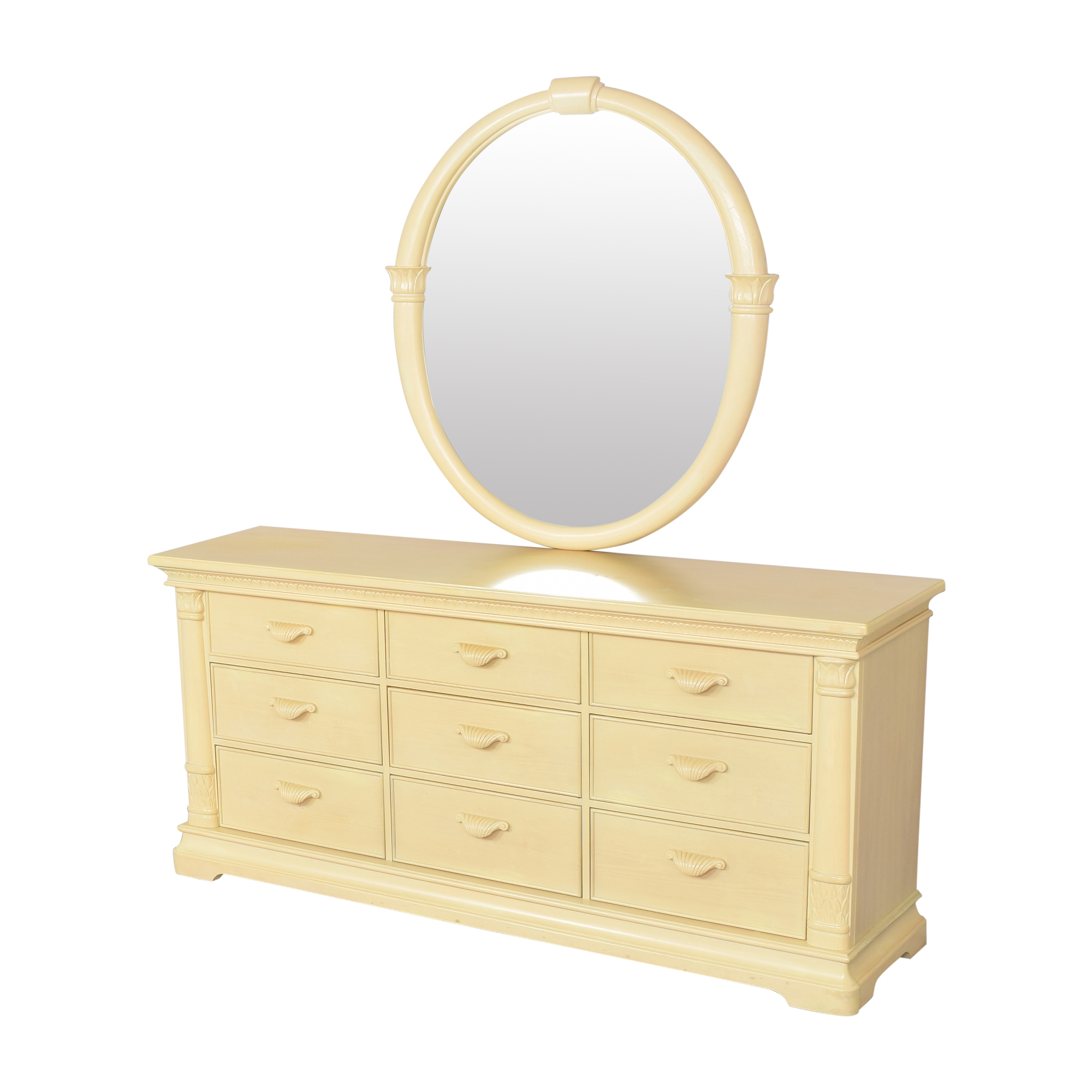 Bernhardt Nine Drawer Dresser with Mirror sale