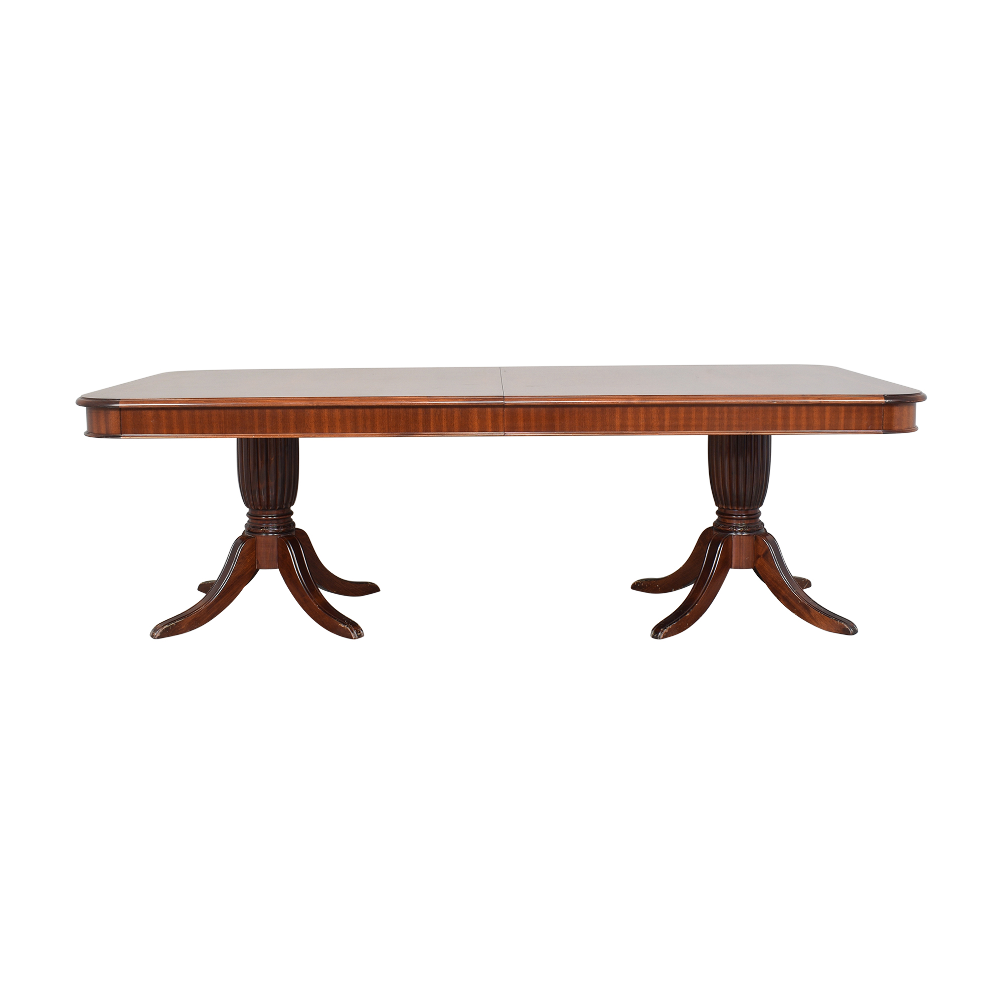 shop Corinthian Double Pedestal Extendable Dining Table Corinthian