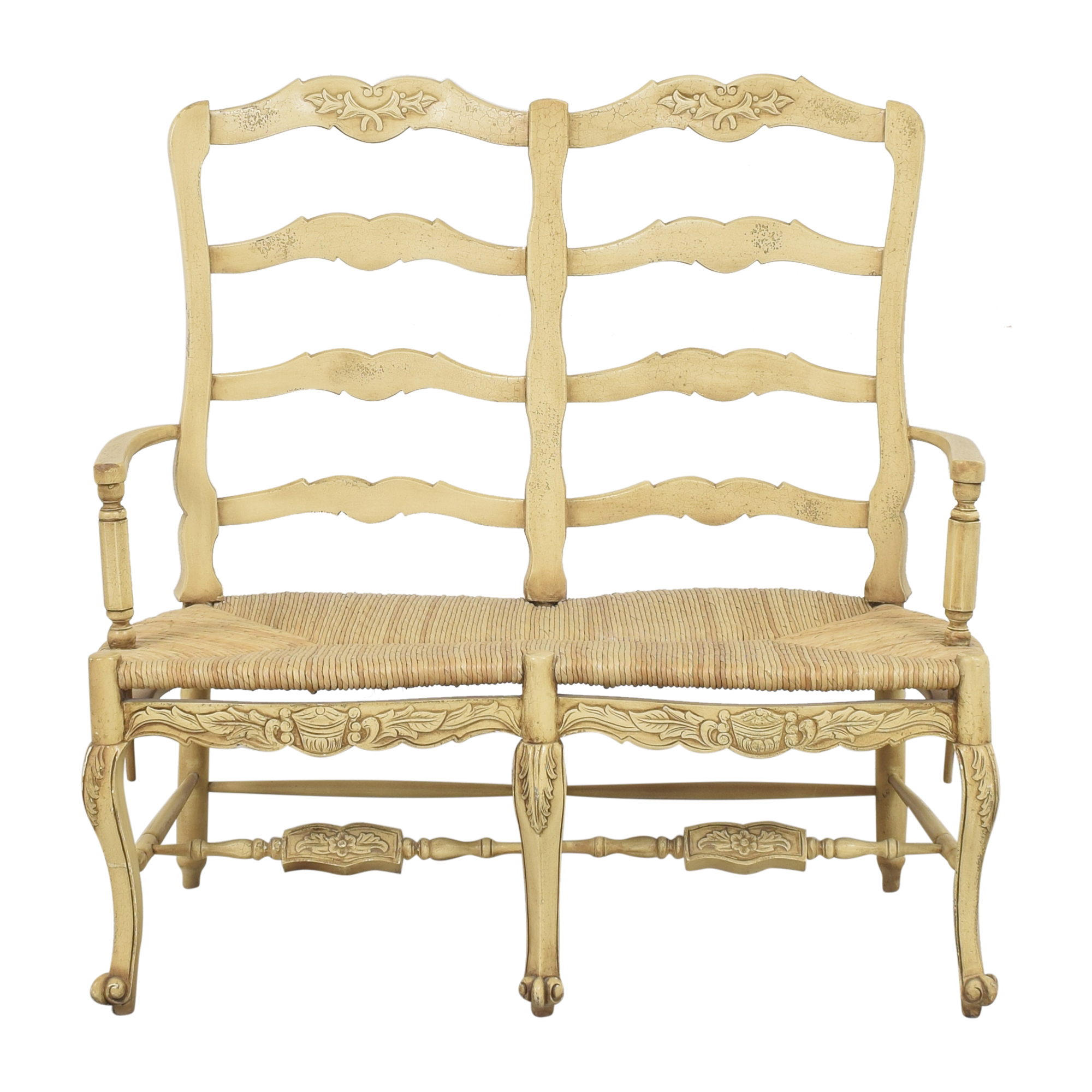 Country French Double Settee ivory