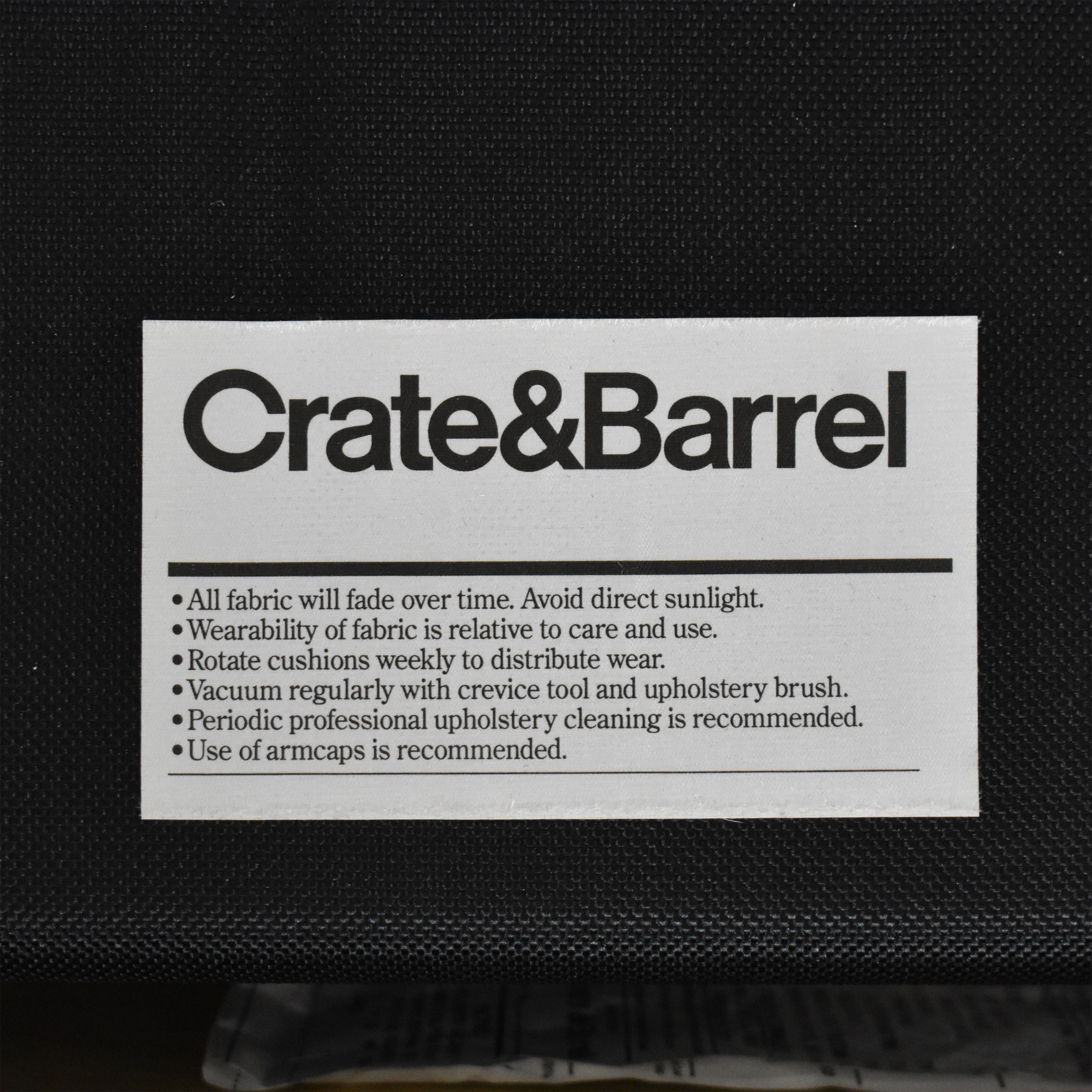 Crate & Barrel Crate & Barrel Hayward Rolled Arm Sleeper Loveseat ct