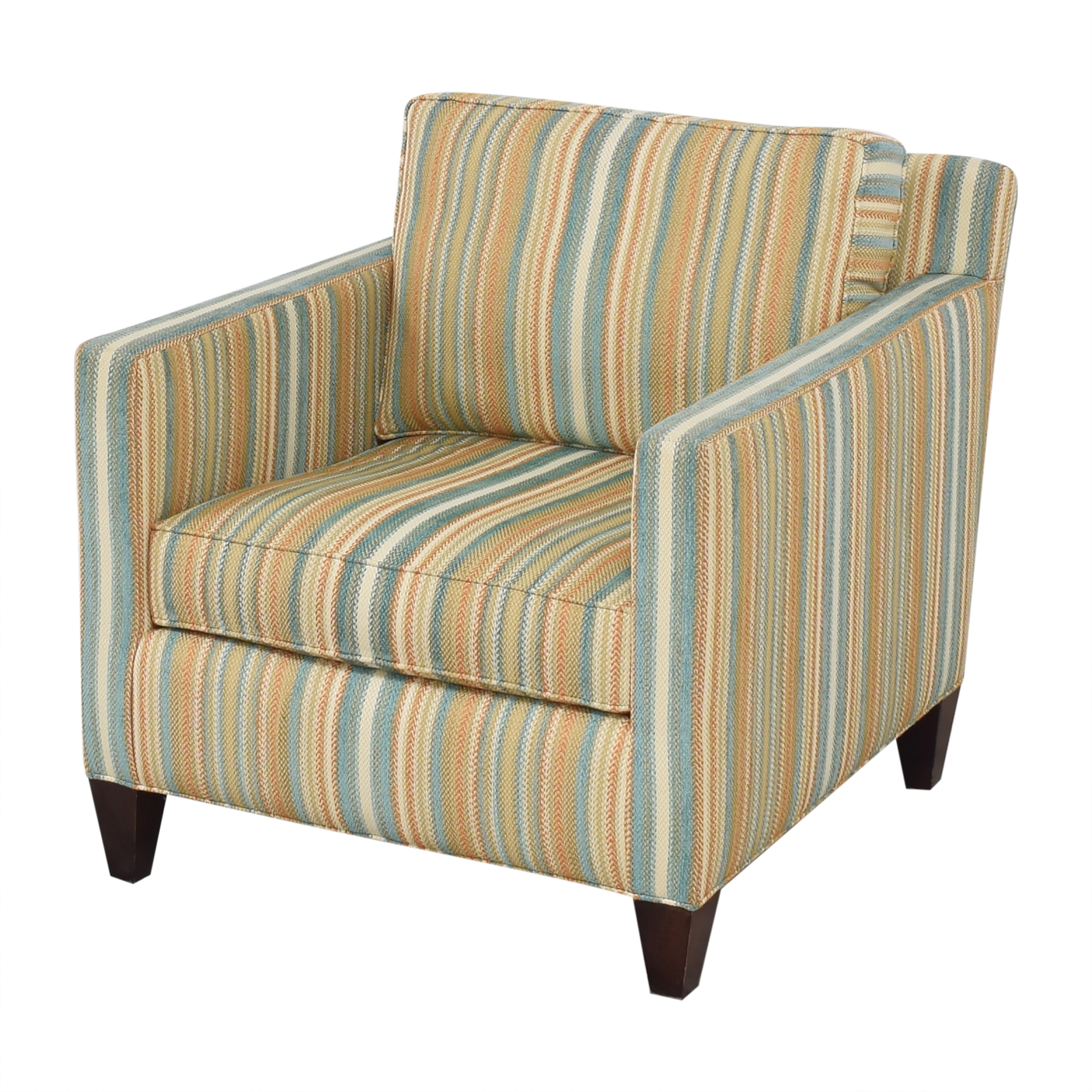 Thomasville Striped Accent Chair sale