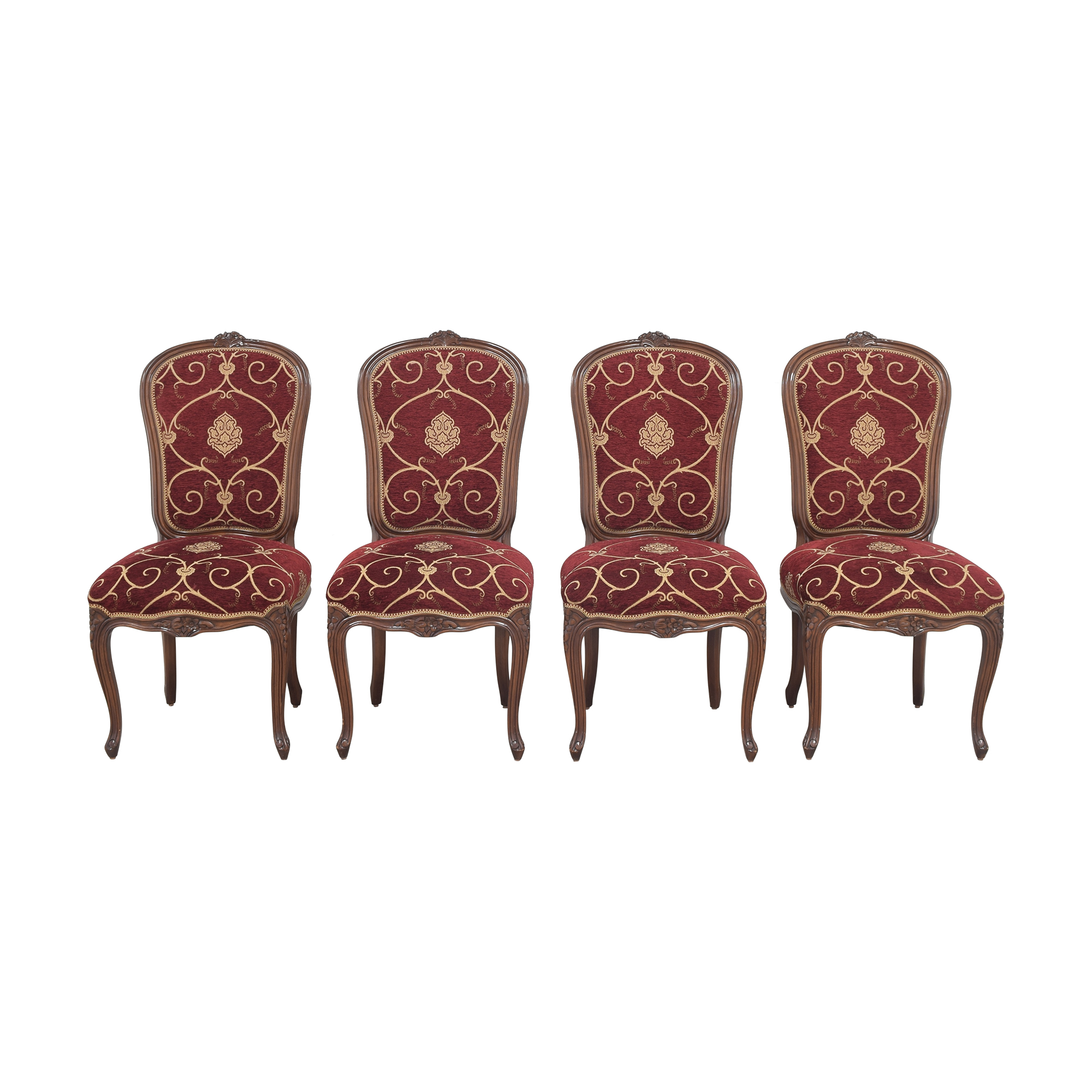 Louis J. Solomon Louis J. Solomon Louis XV Side Dining Chairs pa