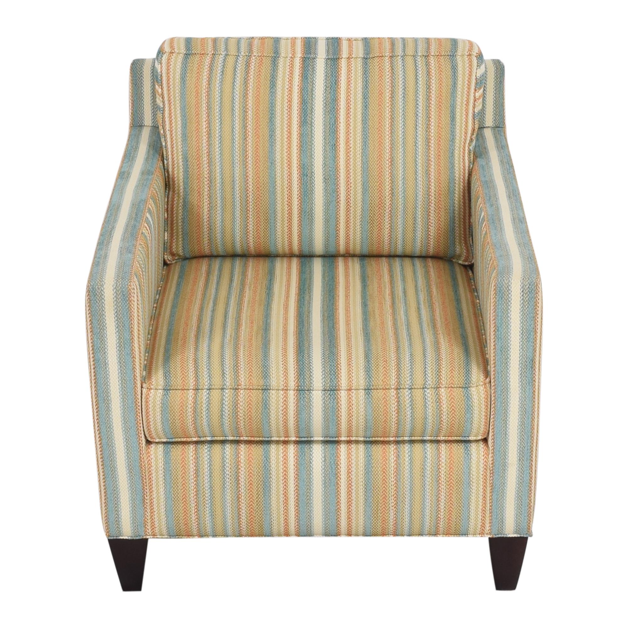 shop Thomasville Striped Accent Chair Thomasville