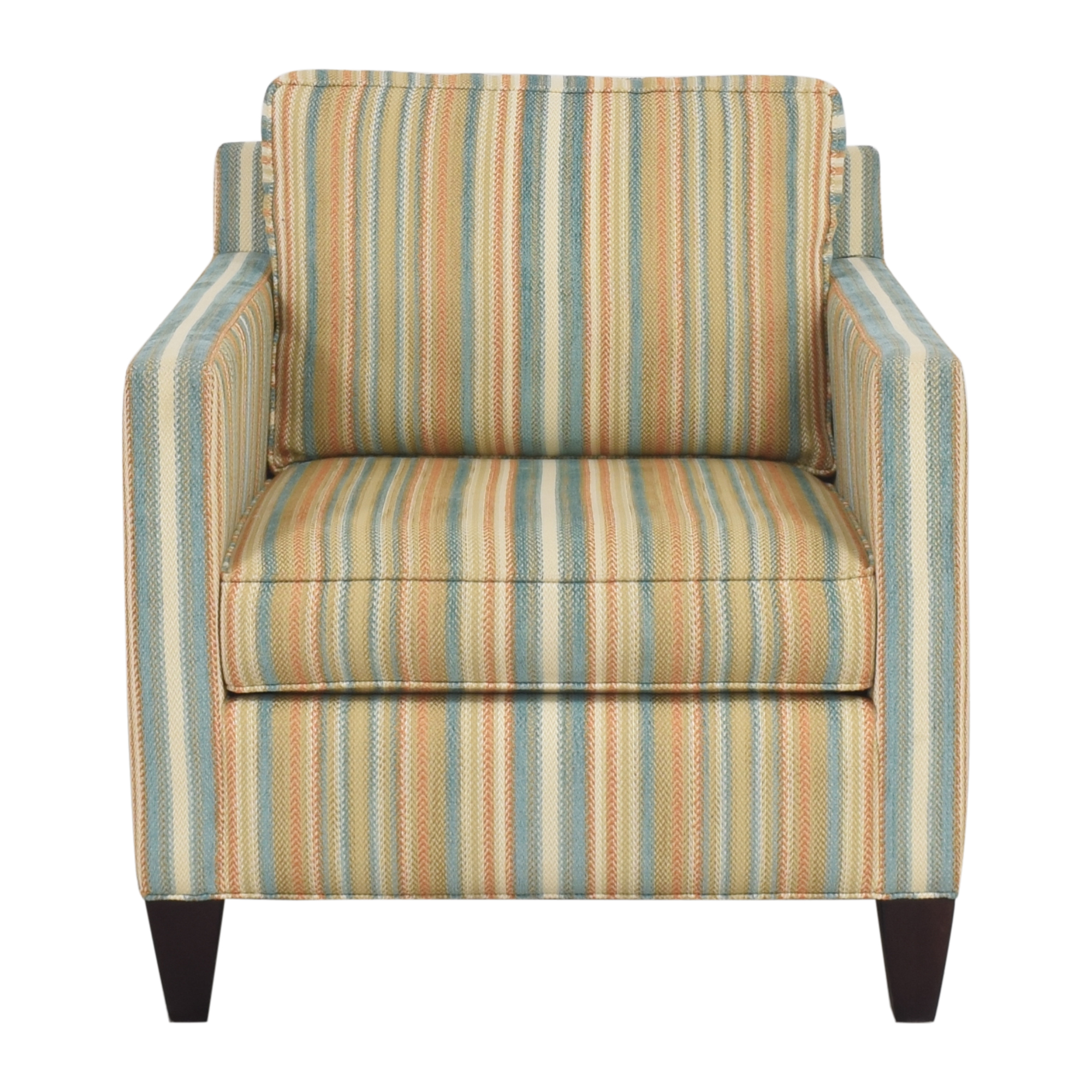 shop Thomasville Striped Accent Chair Thomasville