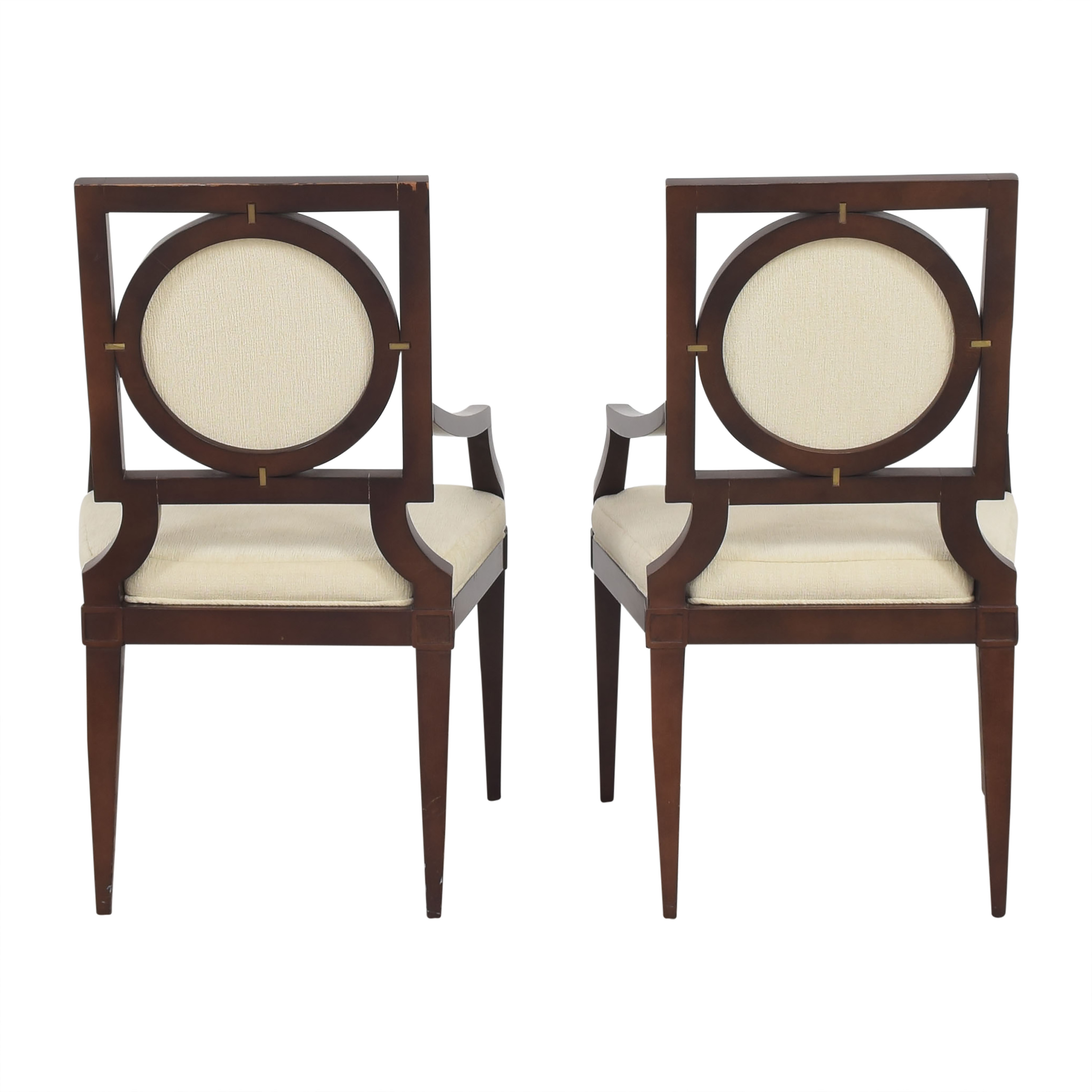 Baker Furniture Baker Louis Dining Arm Chairs on sale