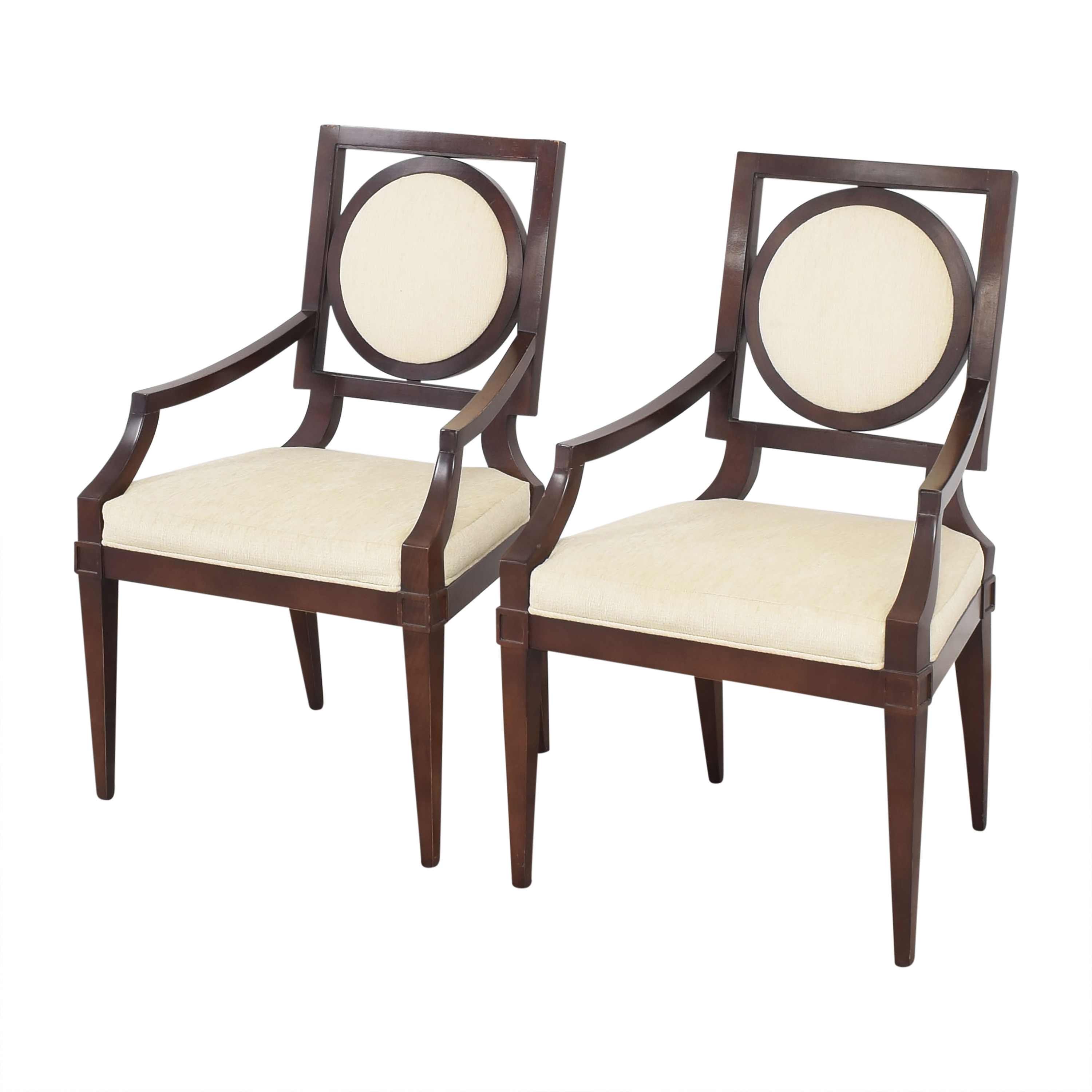 Baker Furniture Baker Louis Dining Arm Chairs dimensions