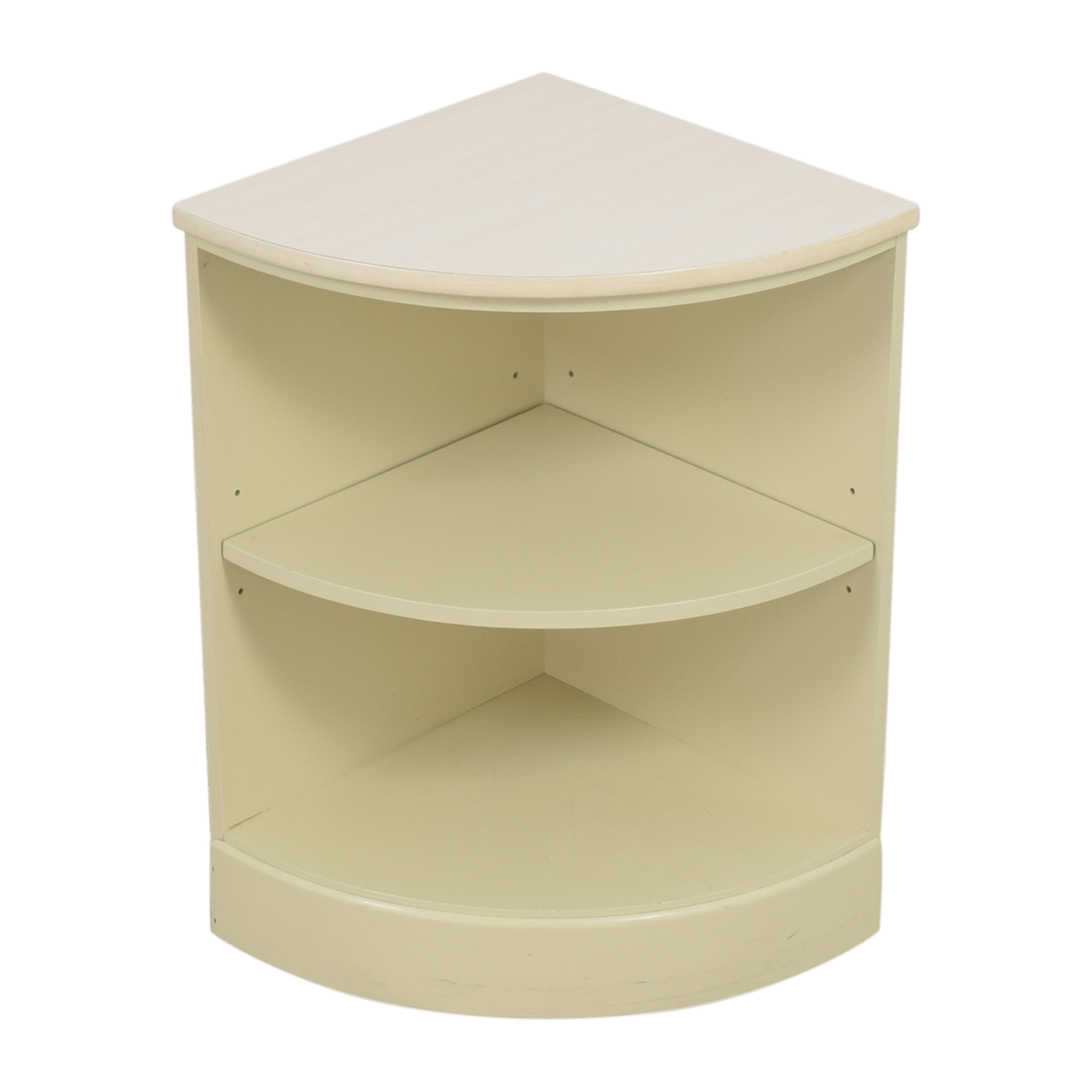 buy Ethan Allen Rounded Corner Shelf Ethan Allen Storage
