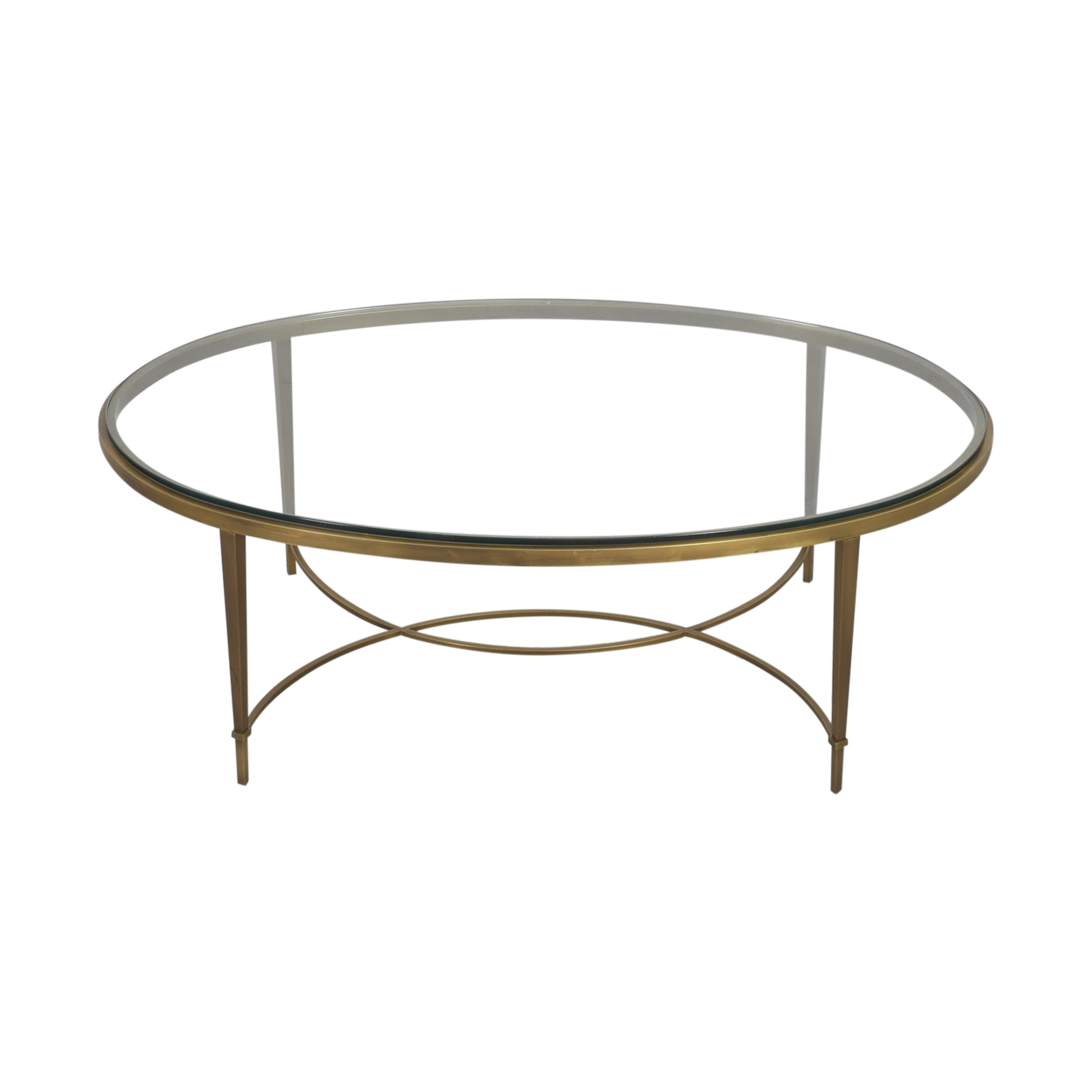Baker Furniture Baker Furniture Oval Coffee Table discount