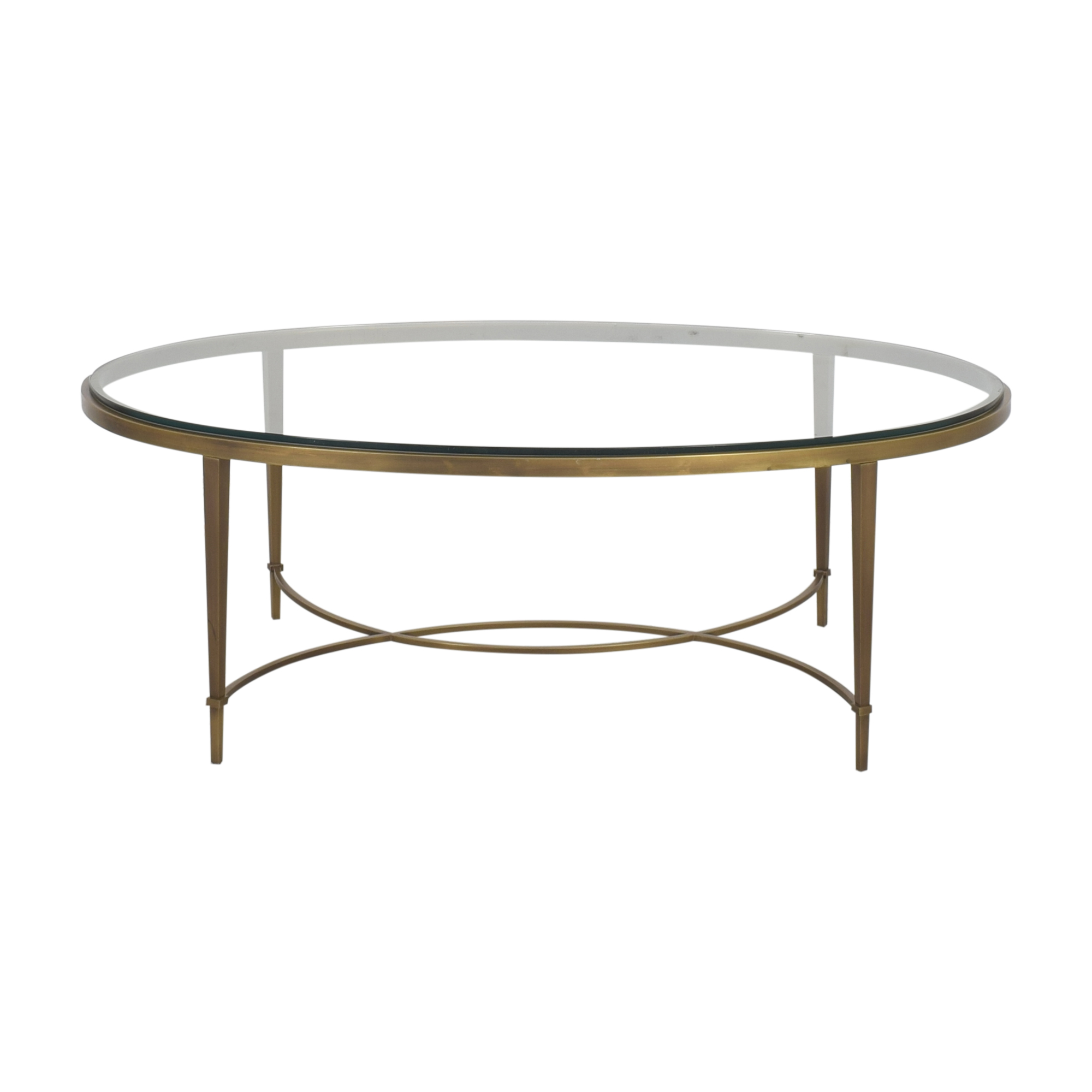 Baker Furniture Baker Furniture Oval Coffee Table dimensions