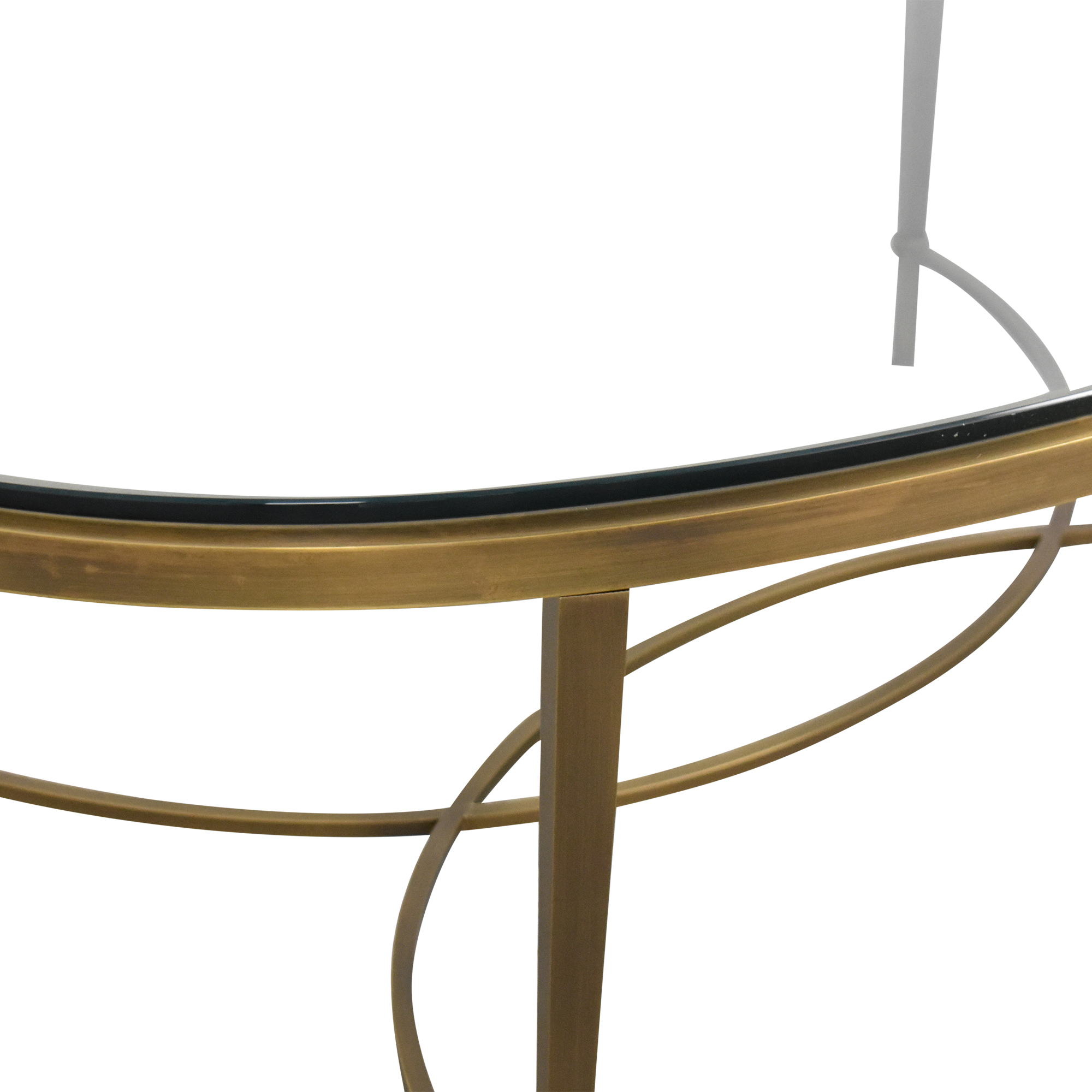 Baker Furniture Baker Furniture Oval Coffee Table gold