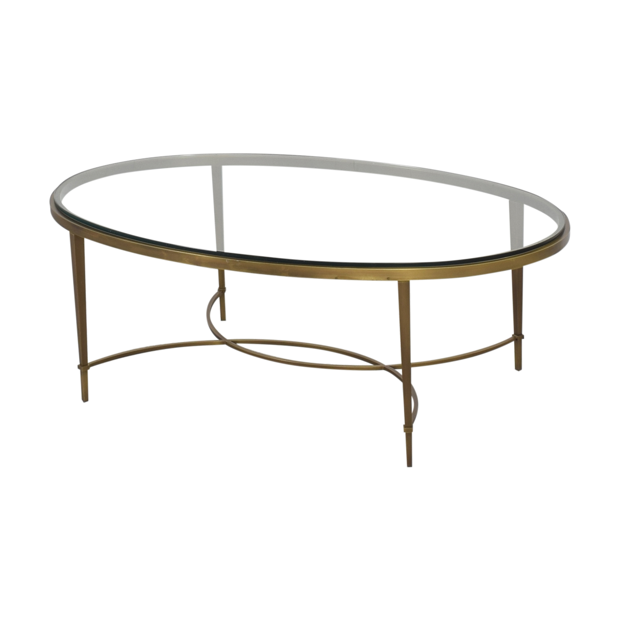 Baker Furniture Baker Furniture Oval Coffee Table for sale