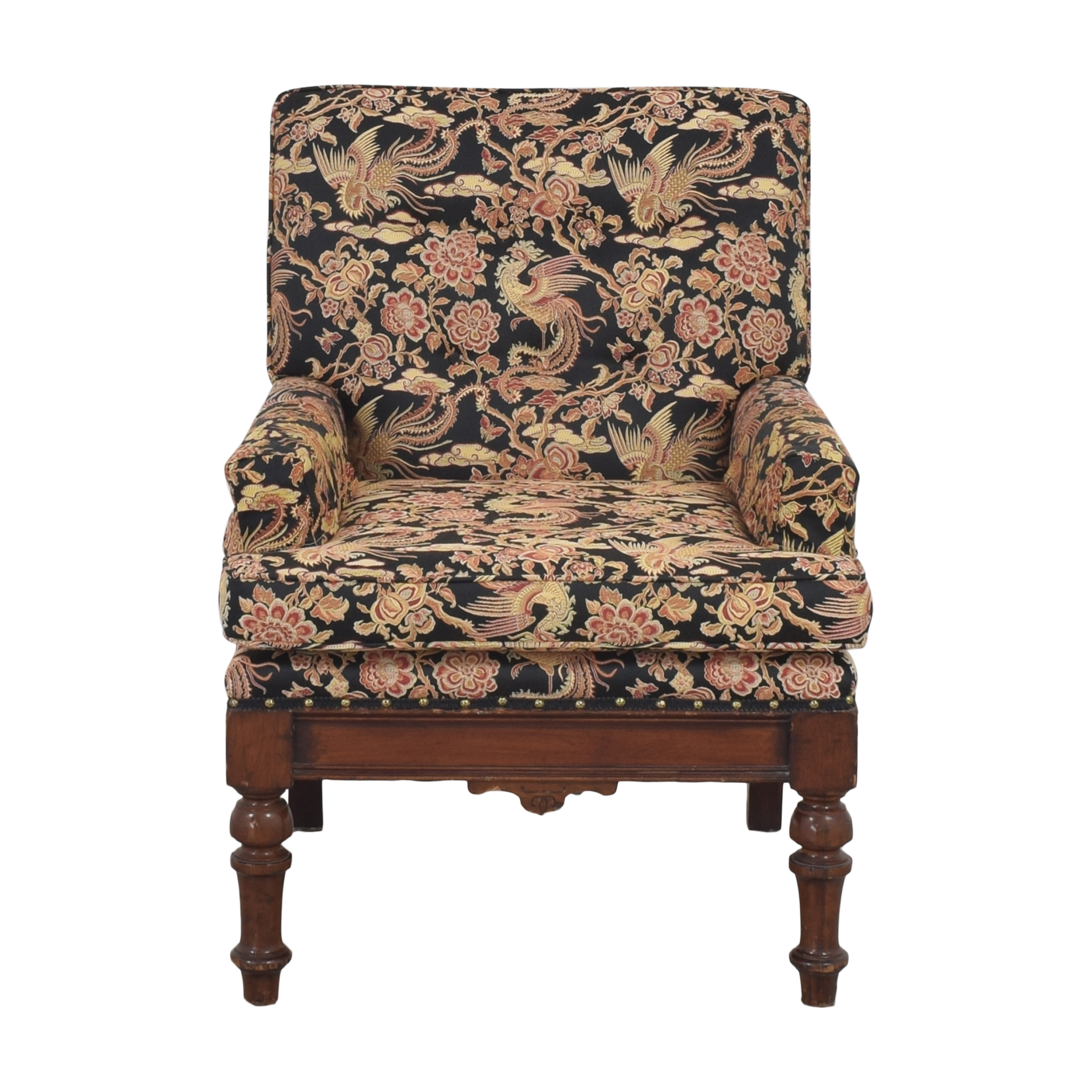 Floral Upholstered Accent Chair / Accent Chairs