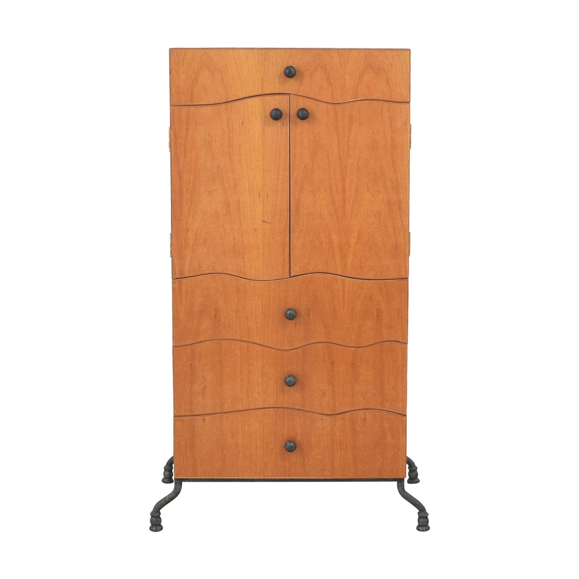 Art Deco-Style Wardrobe brown