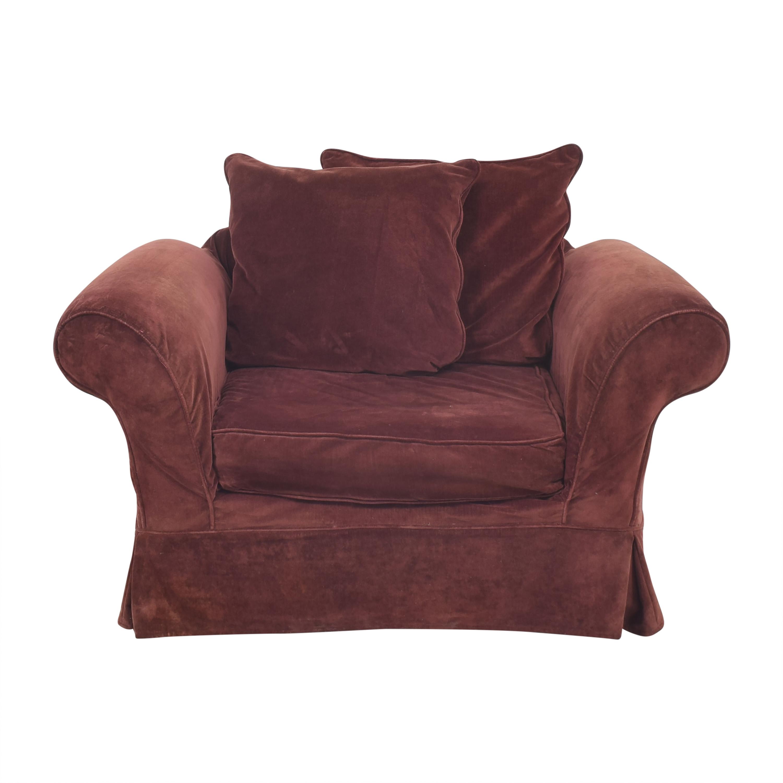 Accent Arm Chair dark red