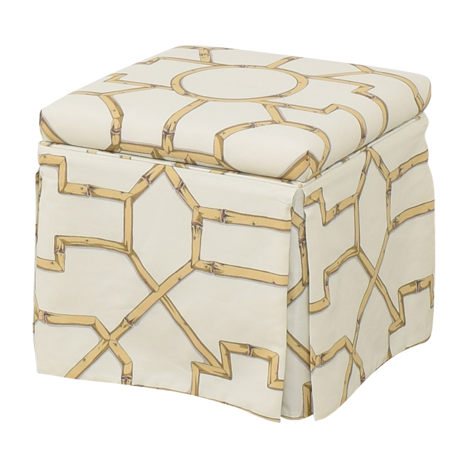 shop The Inside The Inside Skirted Storage Ottoman online