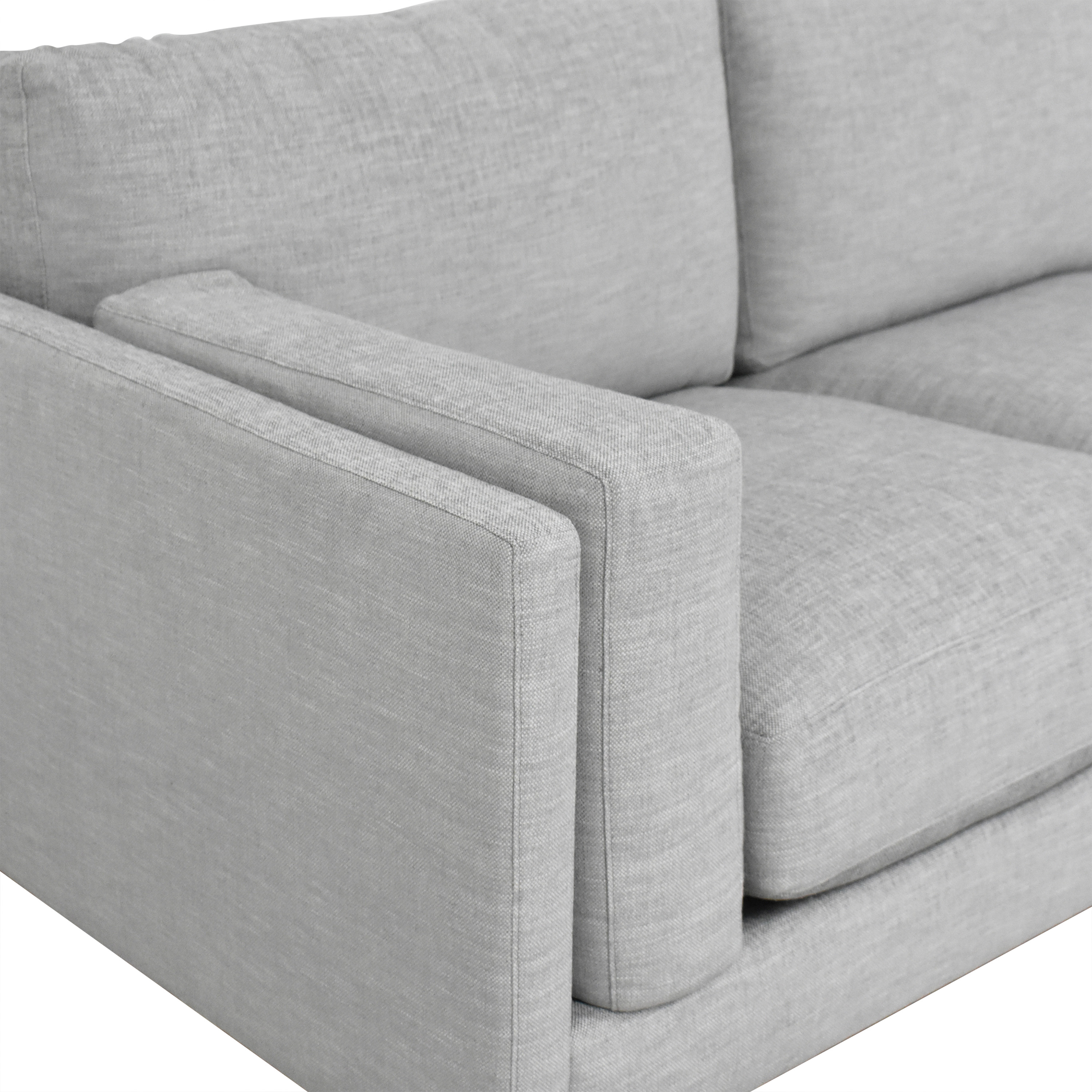 shop BenchMade Modern Skinny Fat Sectional With Bumper BenchMade Modern Sofas