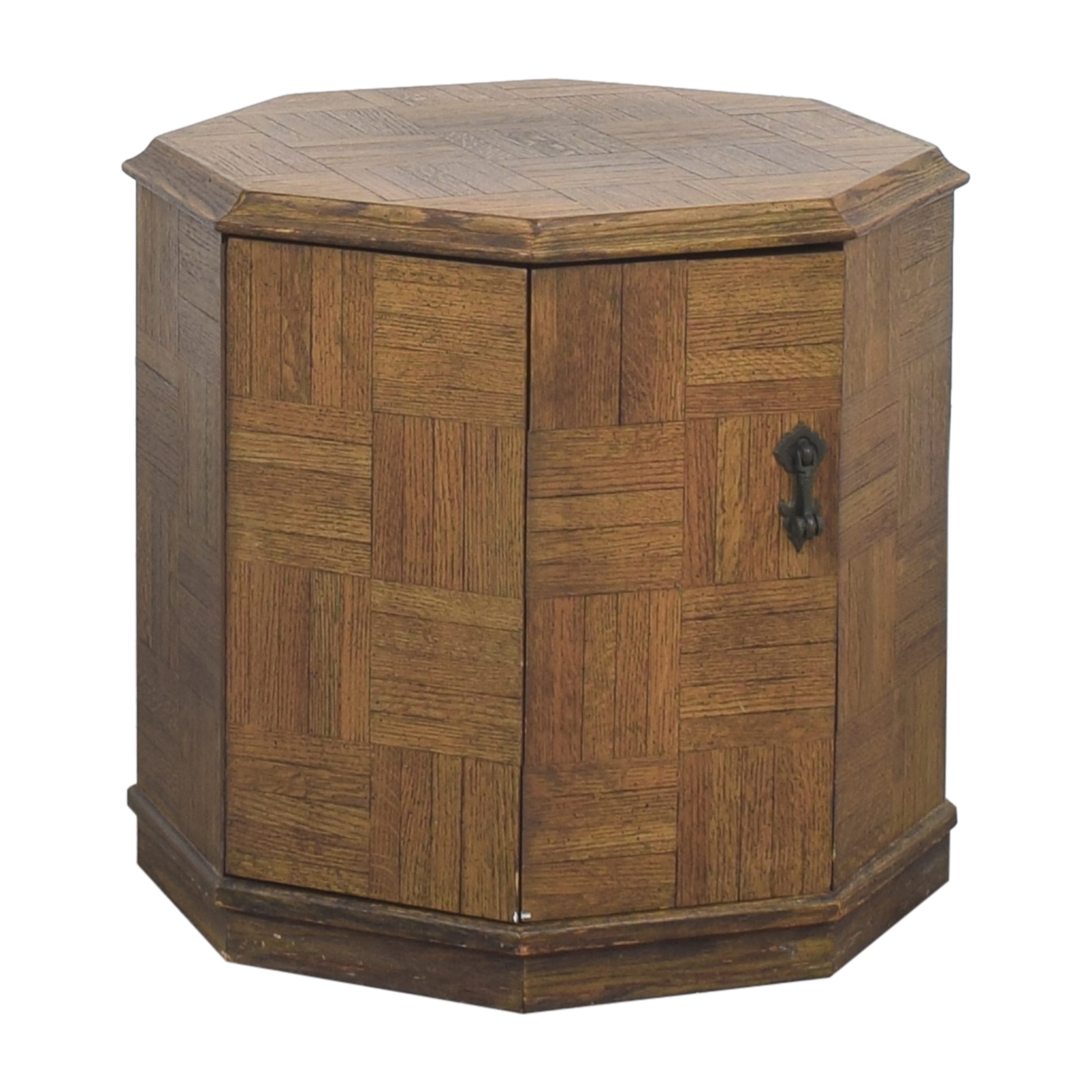 Octagonal Storage End Table used