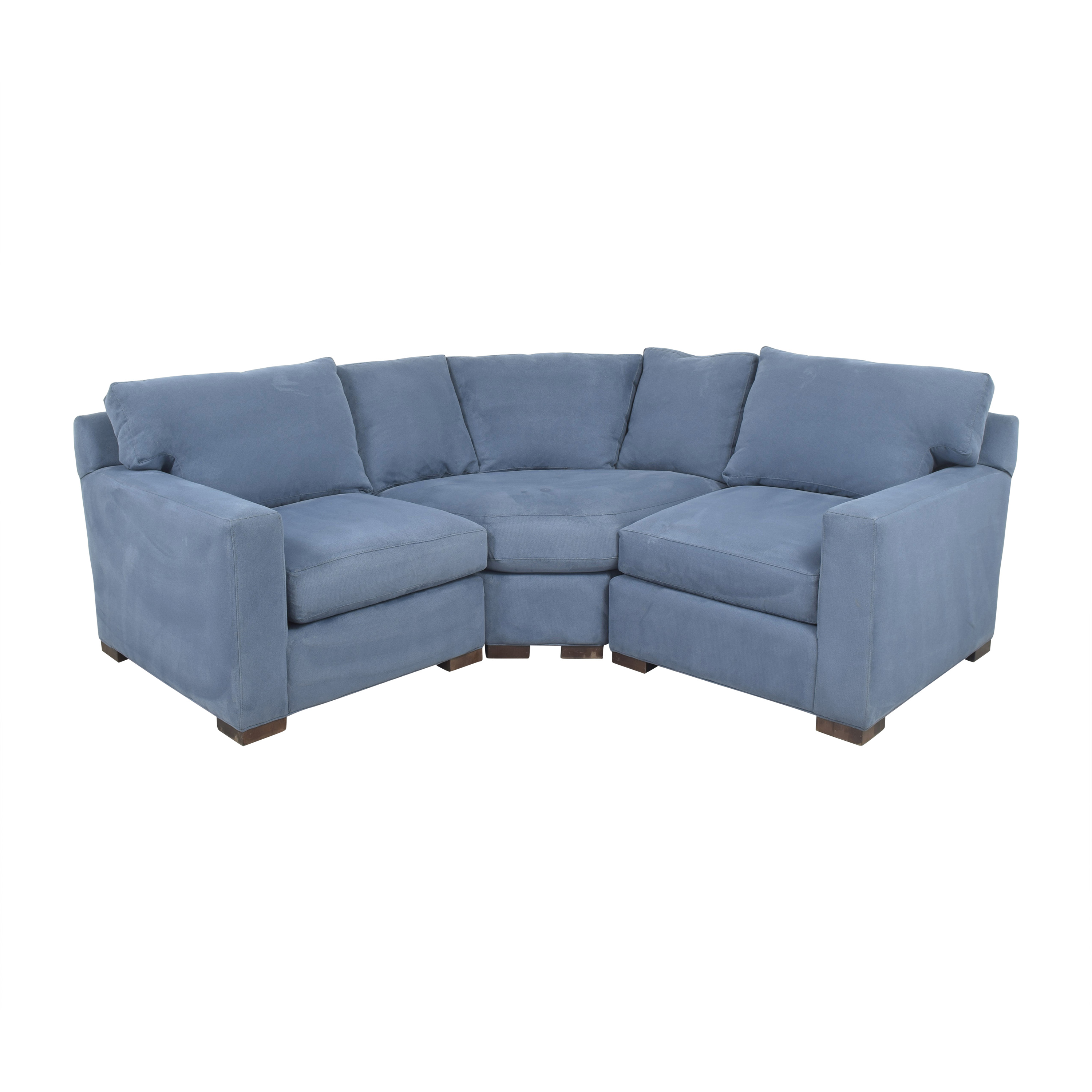 shop Crate & Barrel Axis II Corner Sectional Sofa Crate & Barrel Sofas